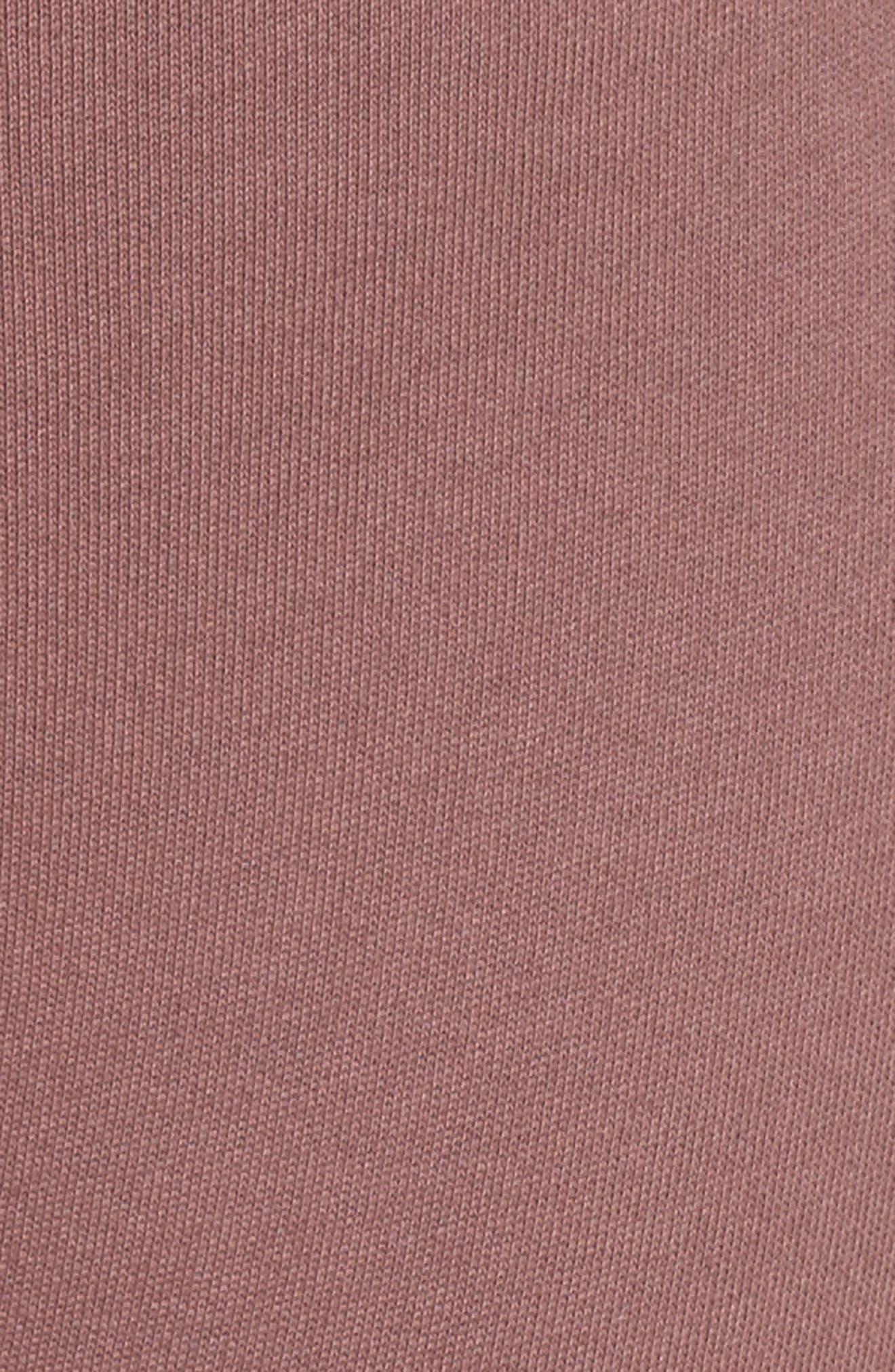 Lace Up Lounge Pants,                             Alternate thumbnail 6, color,                             Deep Mauve