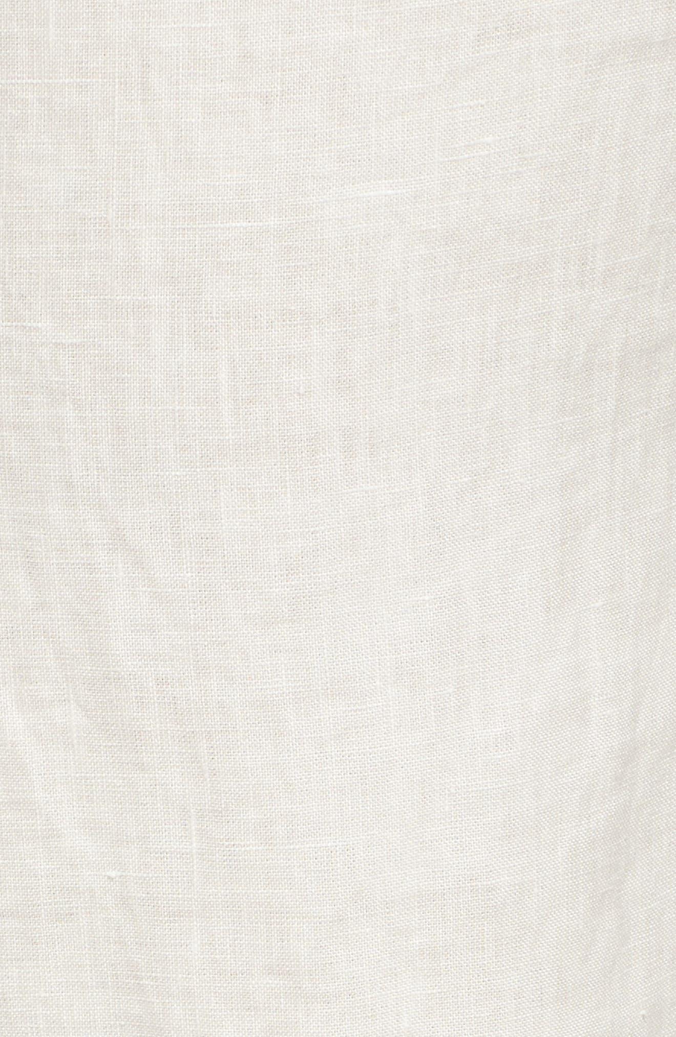Linen Drawstring Pants,                             Alternate thumbnail 6, color,                             Ivory Cloud