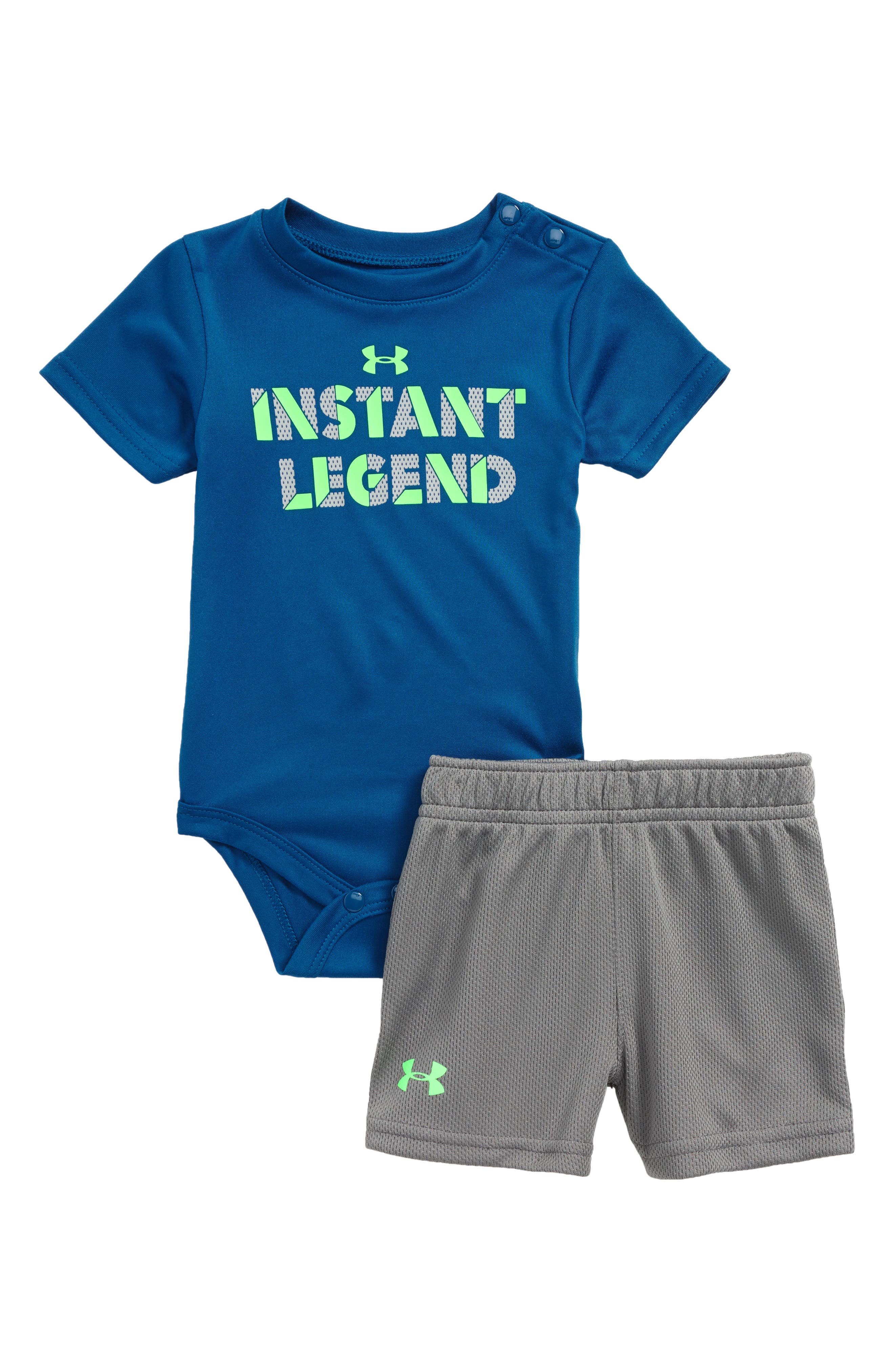Alternate Image 1 Selected - Under Armour Instant Legend Bodysuit & Shorts Set (Baby Boys)