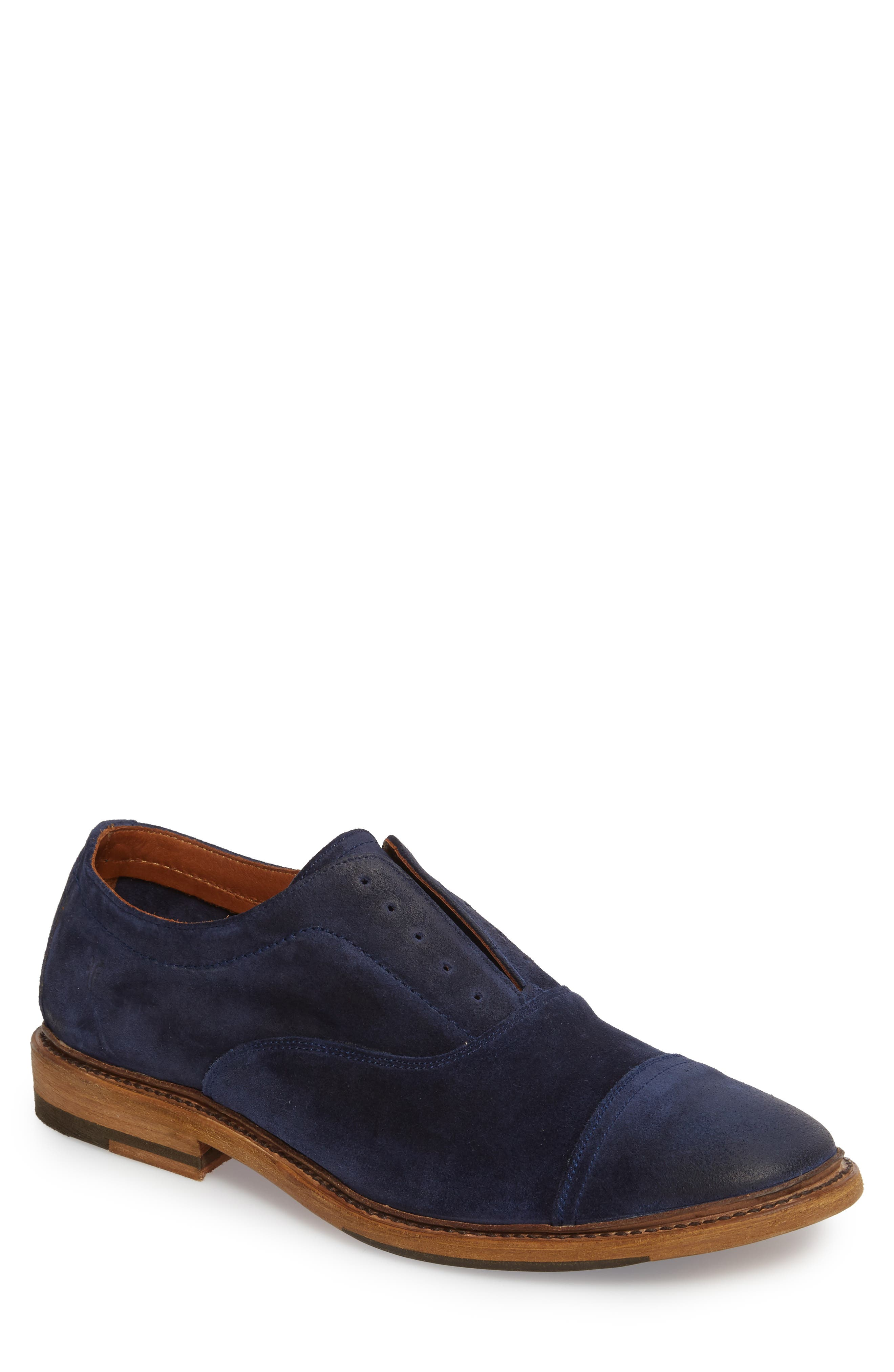 Paul Bal Cap Toe Oxford,                             Main thumbnail 1, color,                             Navy Suede