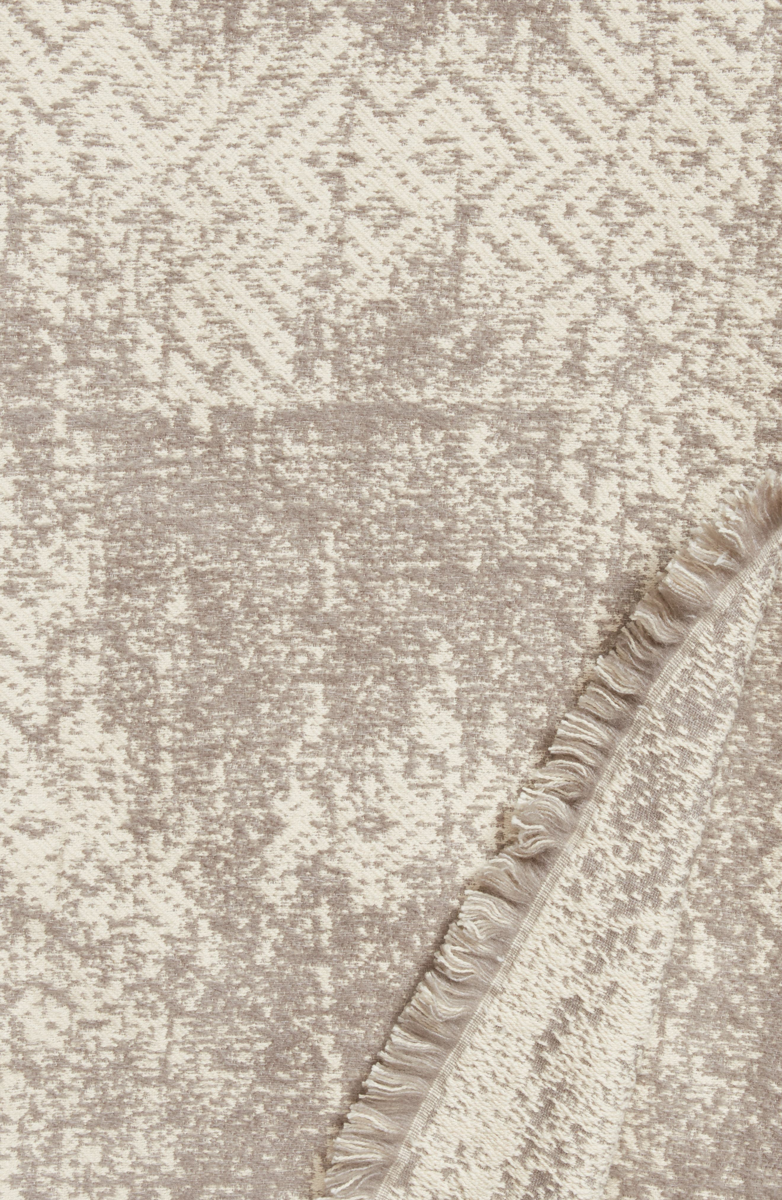 Distressed Geo Throw,                             Alternate thumbnail 2, color,                             Ivory