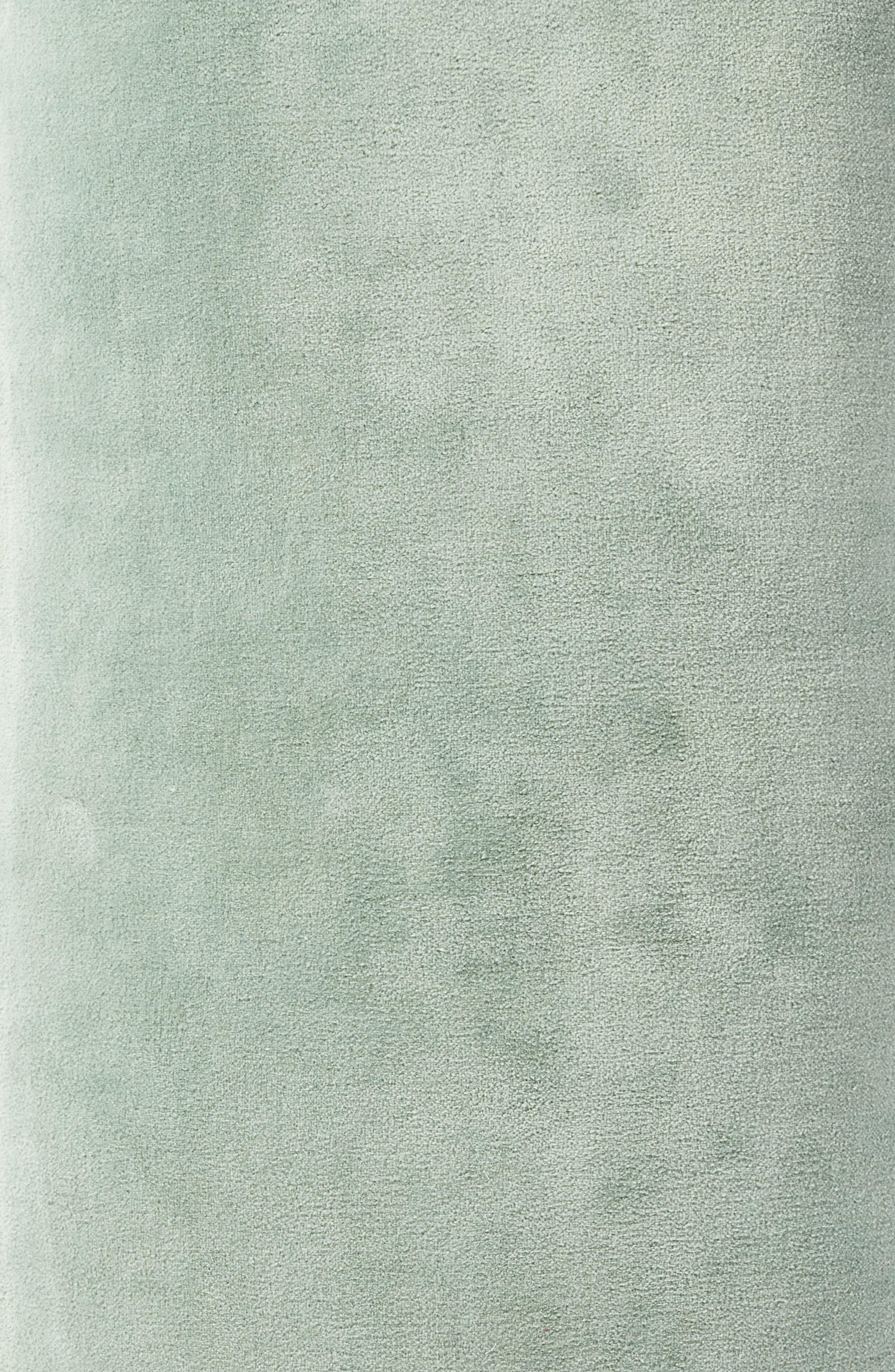 Velvet Accent Pillow,                             Alternate thumbnail 5, color,                             Green Slate