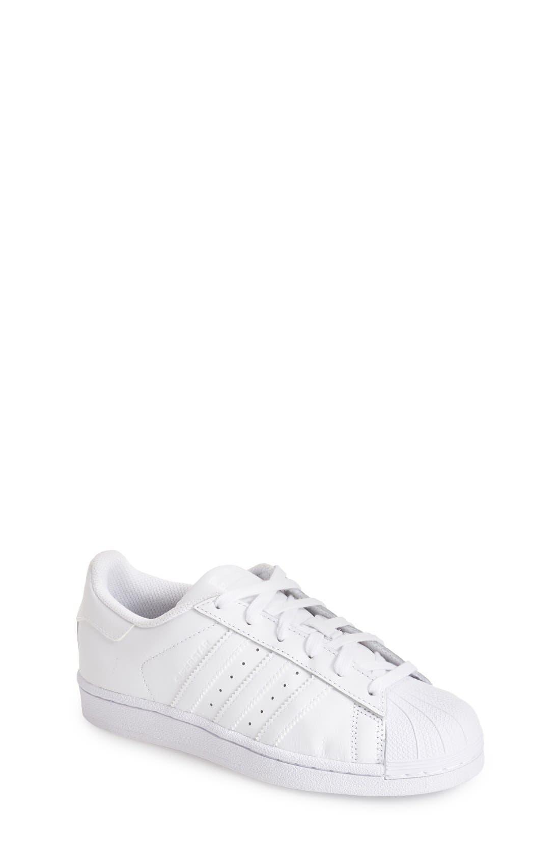 'Superstar 2' Sneaker,                         Main,                         color, White/ White