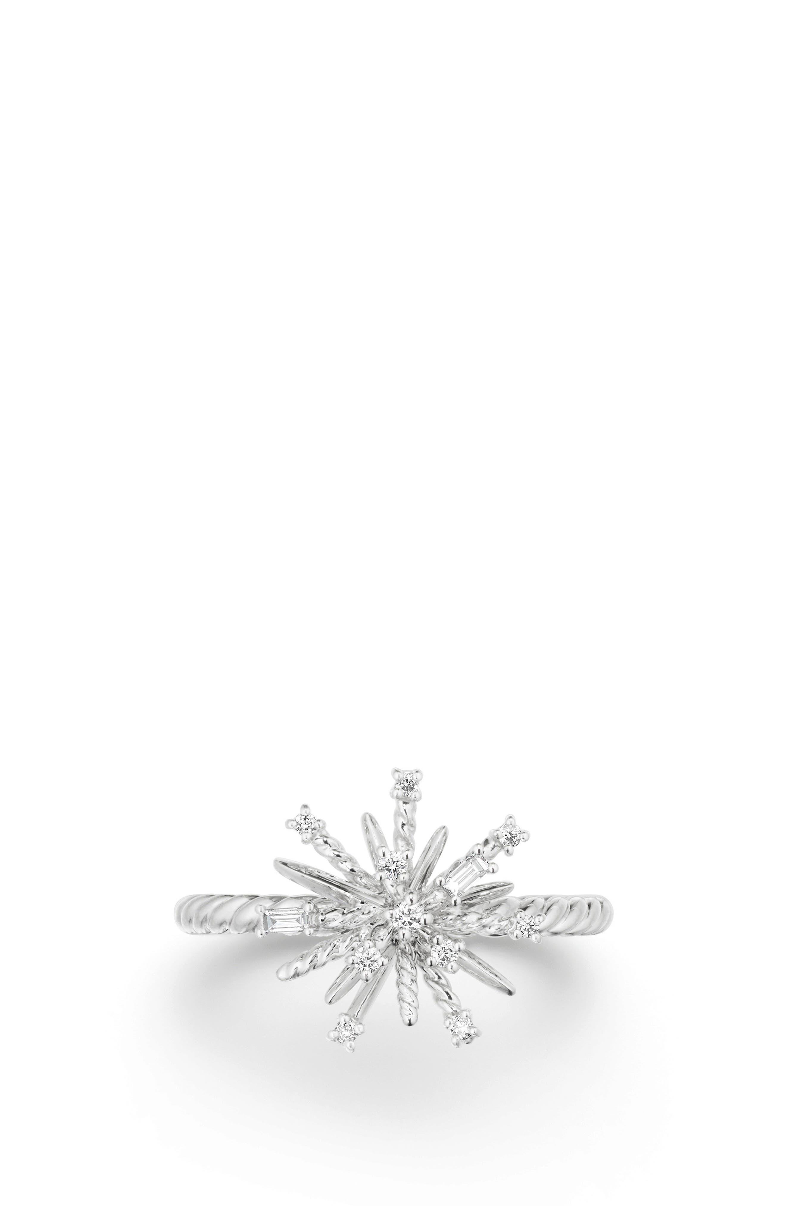 Supernova Ring with Diamonds,                             Alternate thumbnail 3, color,                             White Gold/ Diamond