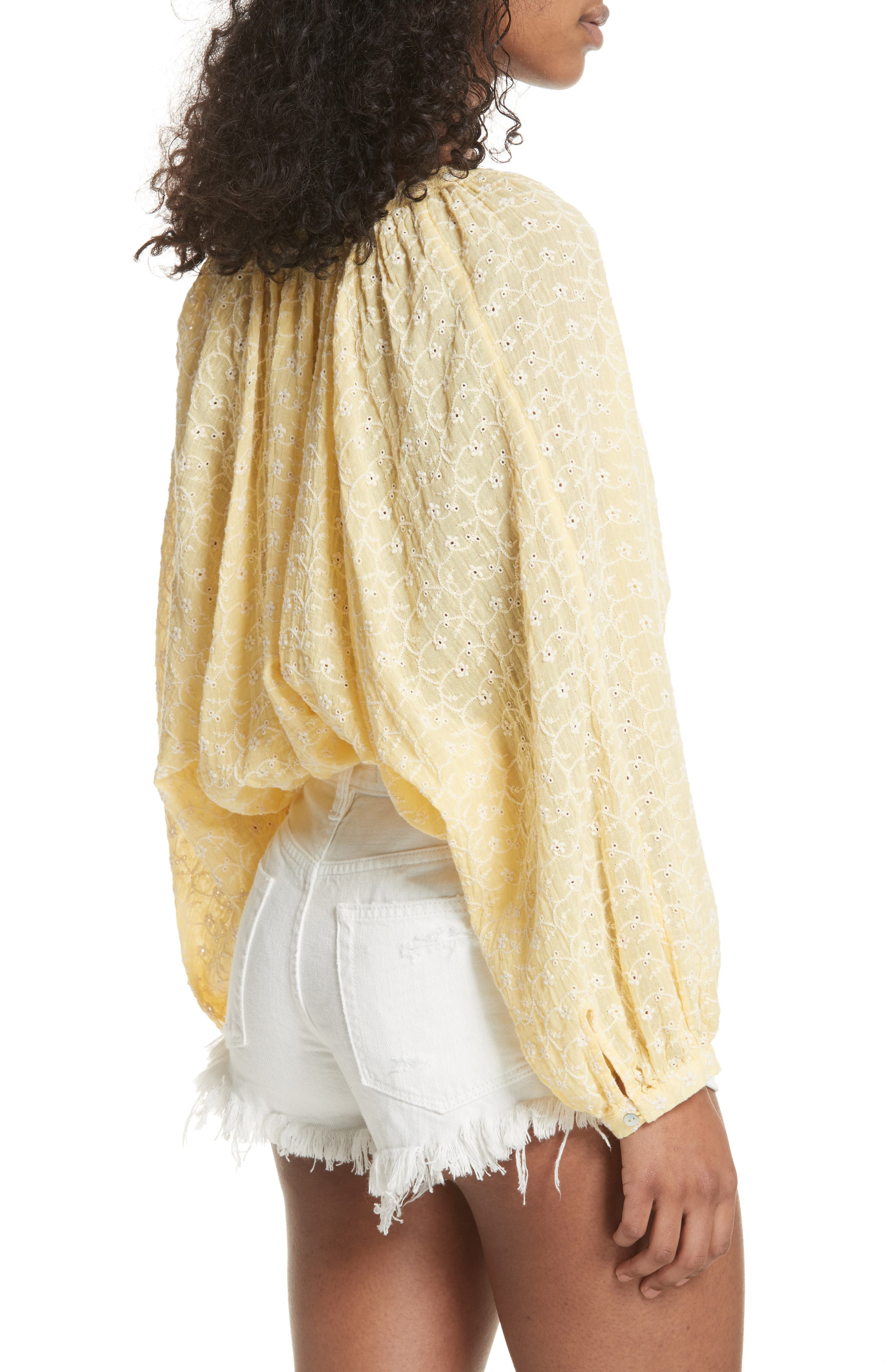 Down from the Clouds Peasant Top,                             Alternate thumbnail 3, color,                             Gold