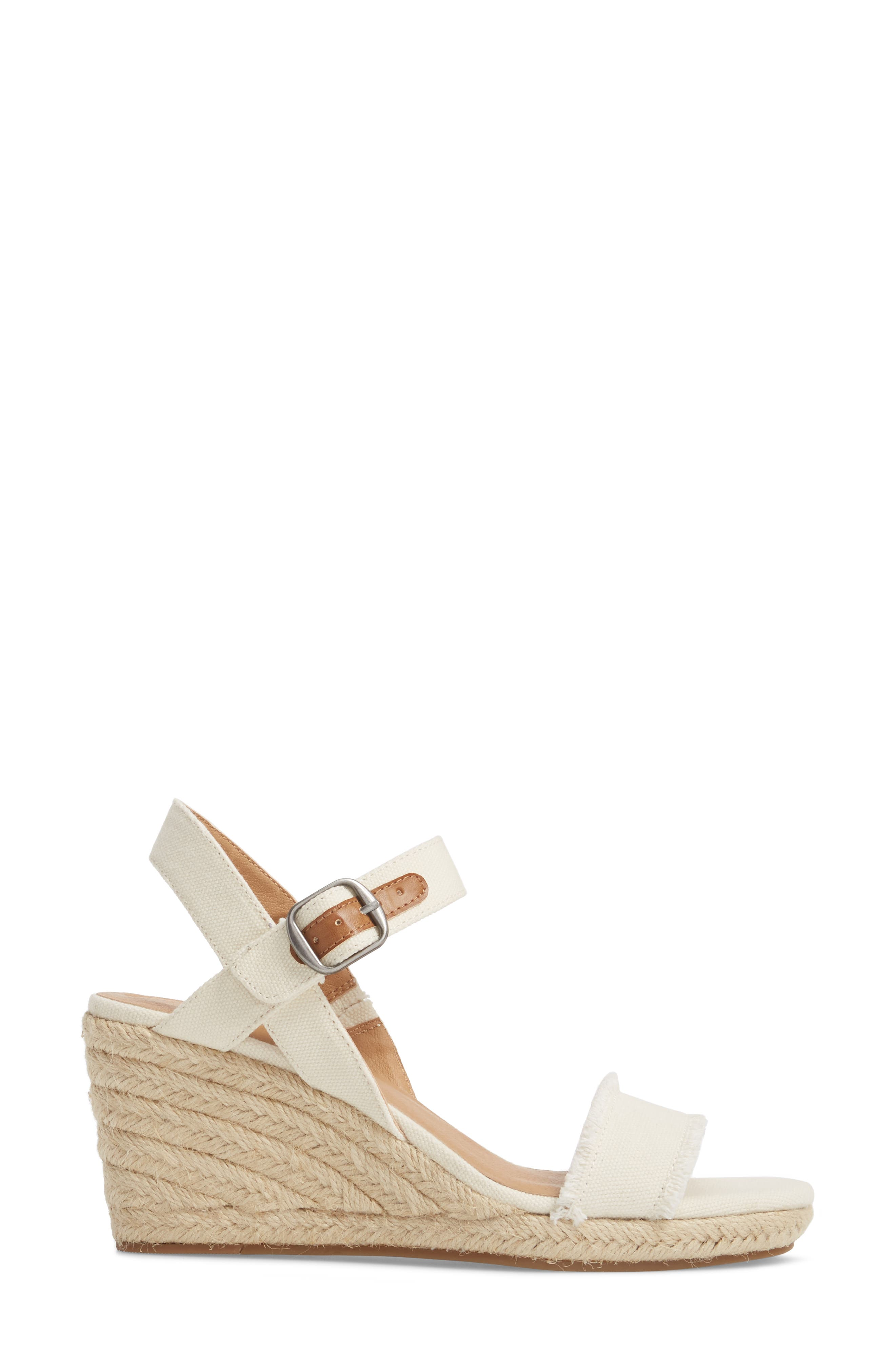 Alternate Image 3  - Lucky Brand Marceline Squared Toe Wedge Sandal (Women)