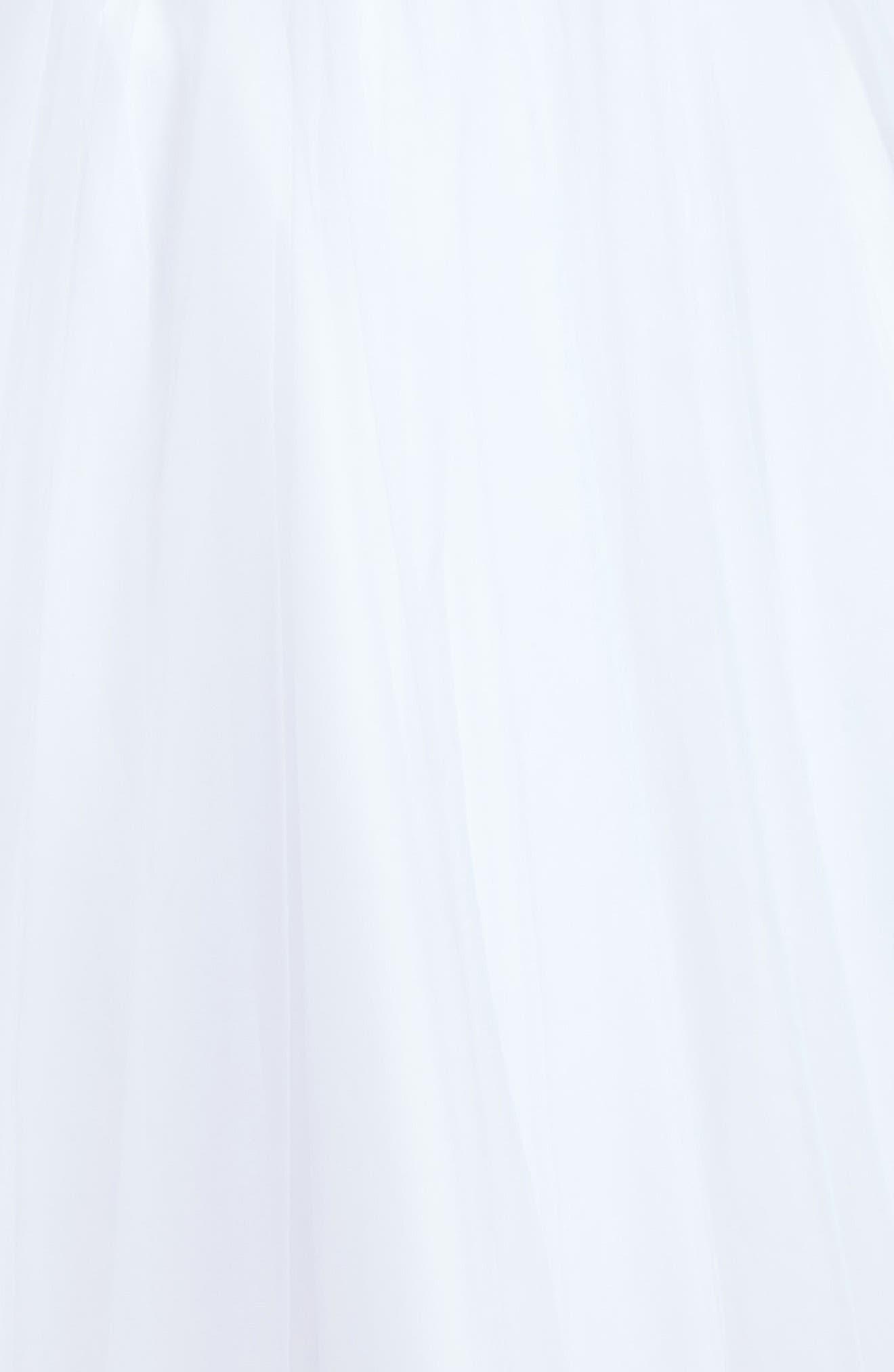 Alternate Image 3  - Joan Calabrese for Mon Cheri Beaded Satin & Tulle First Communion Dress (Toddler Girls, Little Girls & Big Girls)