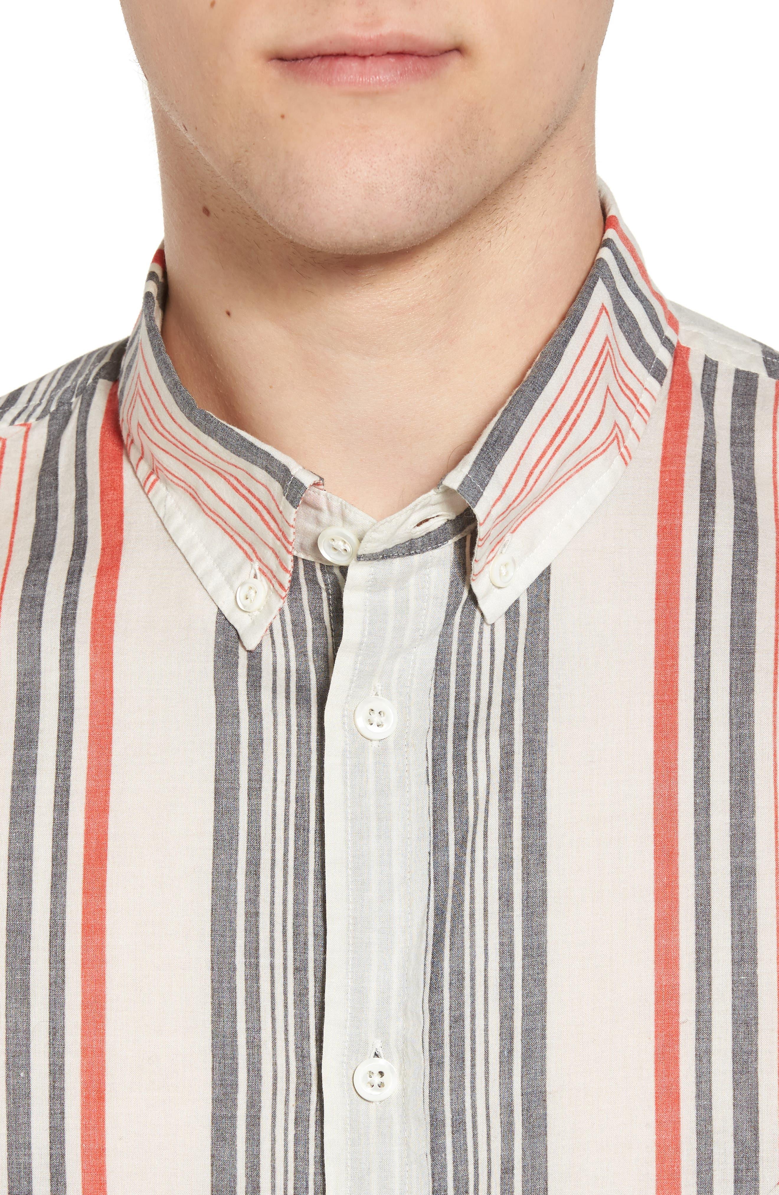 Alternate Image 4  - Billy Reid Murphy Stripe Print Sport Shirt