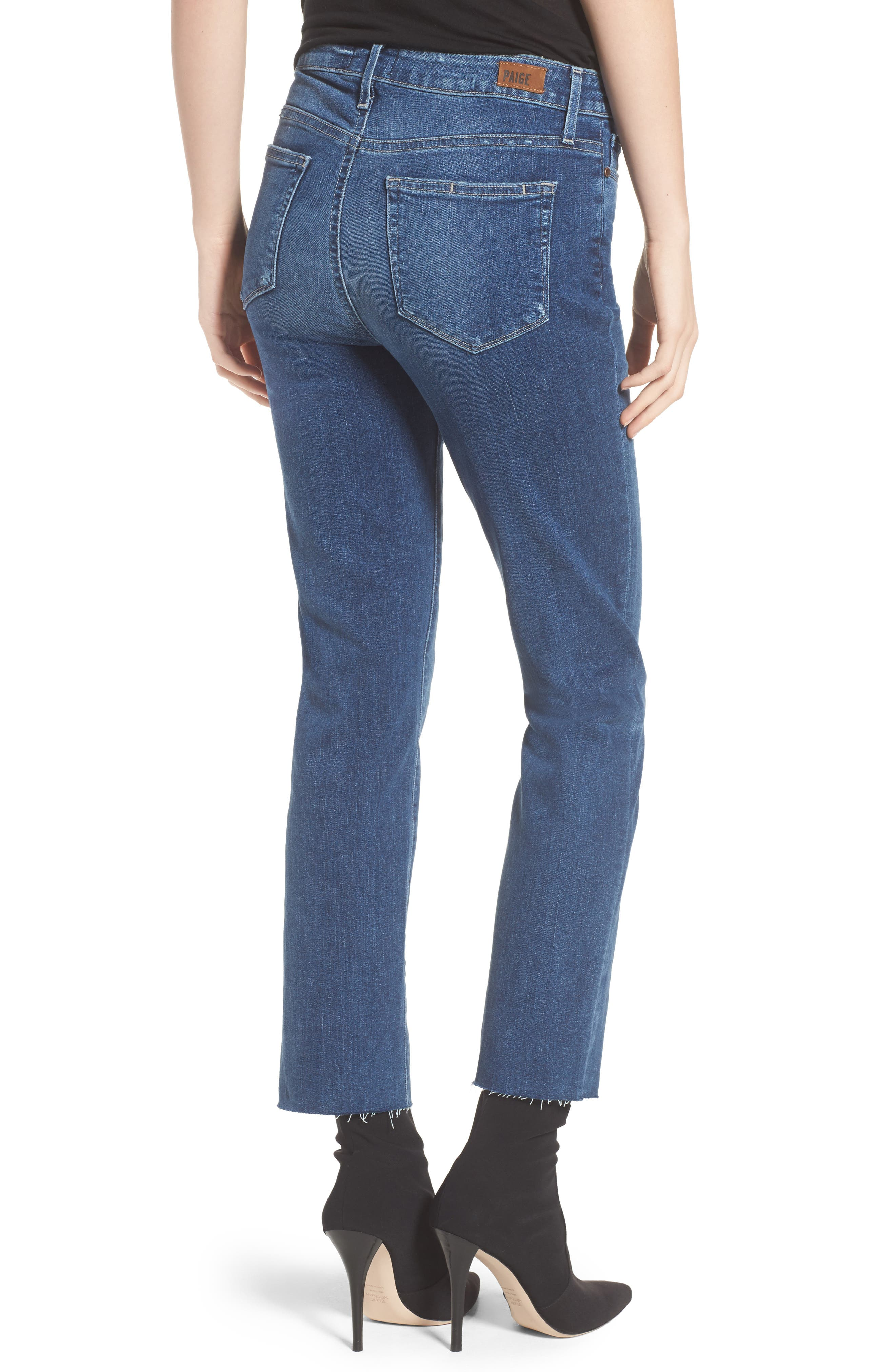 Transcend - Hoxton Ankle Straight Leg Jeans,                             Alternate thumbnail 2, color,                             Malibu