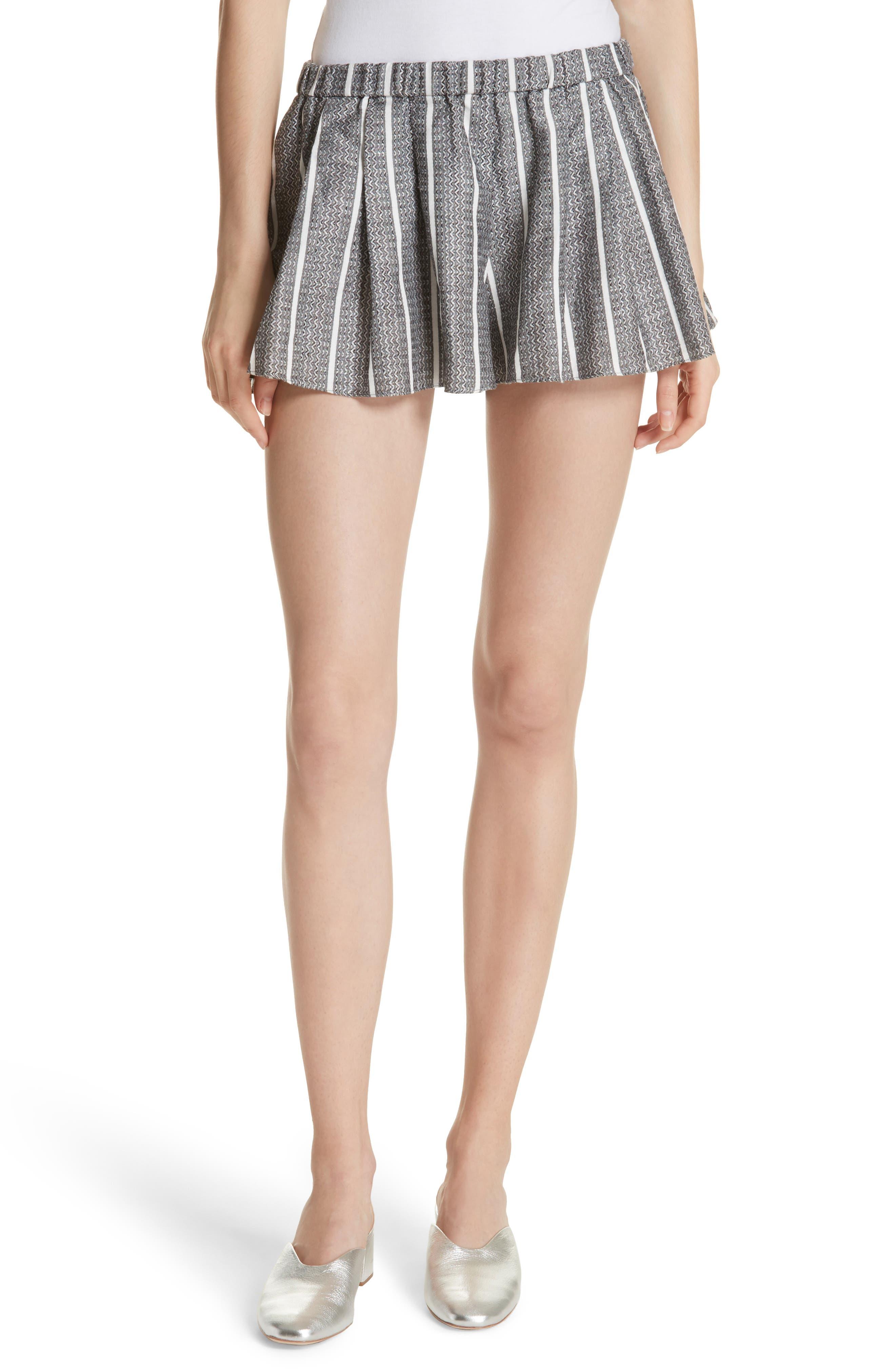 Main Image - Caroline Constas Pleated Shorts