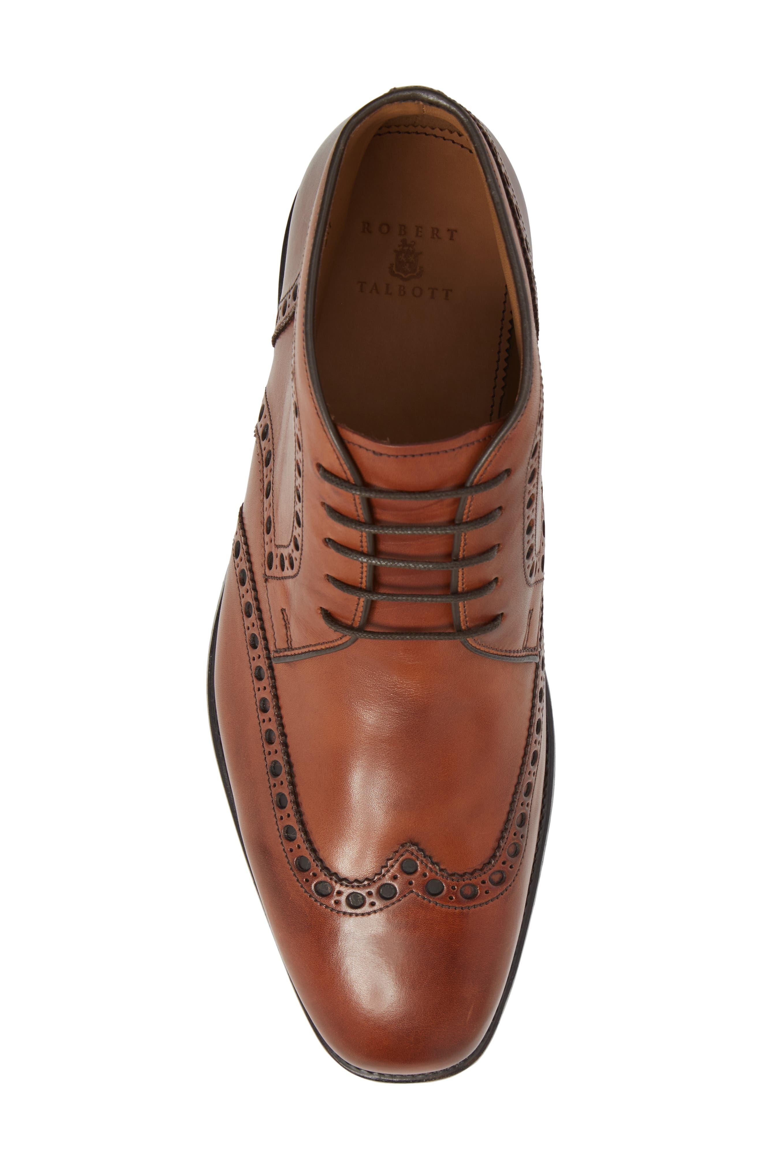 Presidio Wingtip Chukka Boot,                             Alternate thumbnail 5, color,                             Cognac