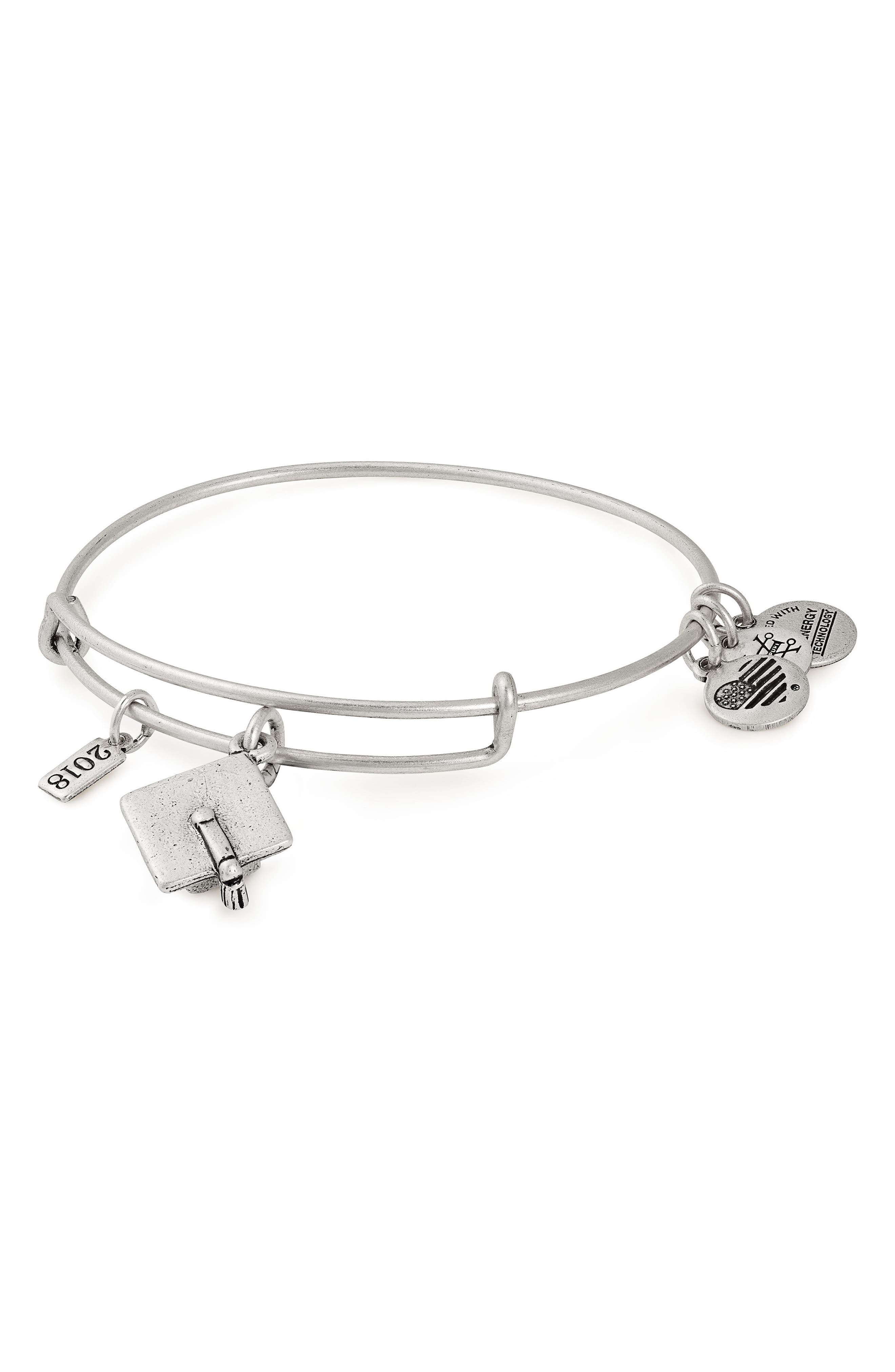 Alex and Ani Graduation Cap 2018 Adjustable Wire Bangle
