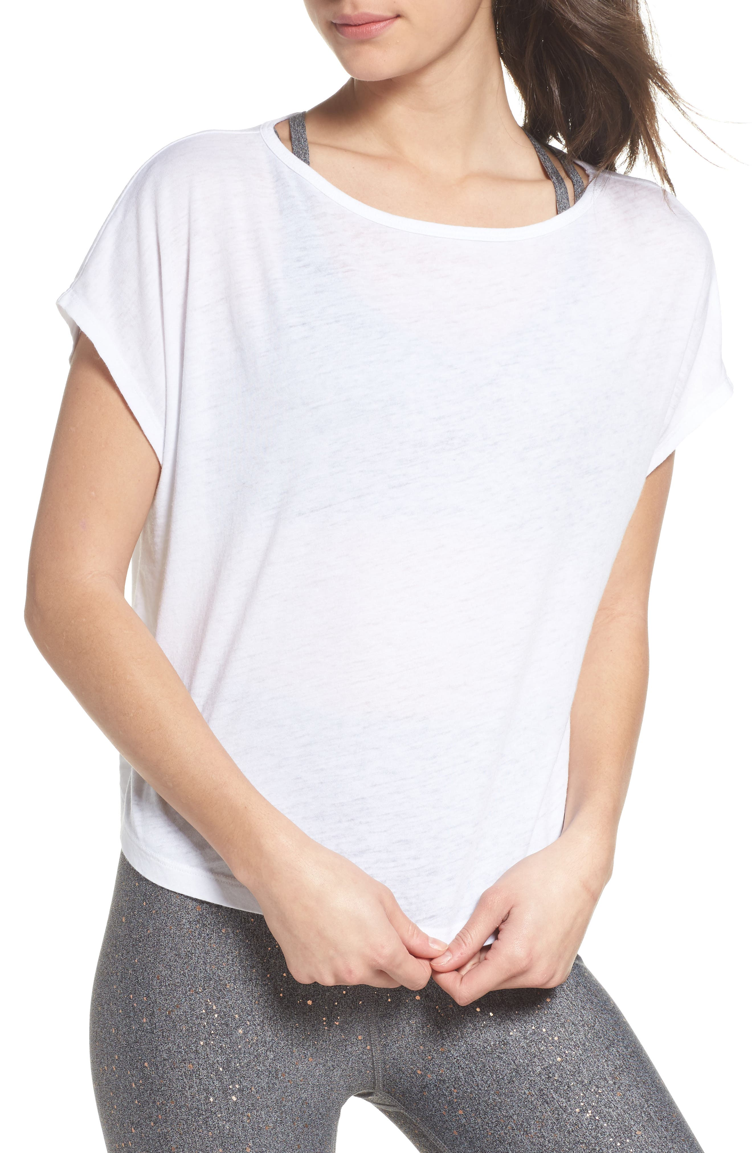 Perfect Layer Tee,                             Main thumbnail 1, color,                             White