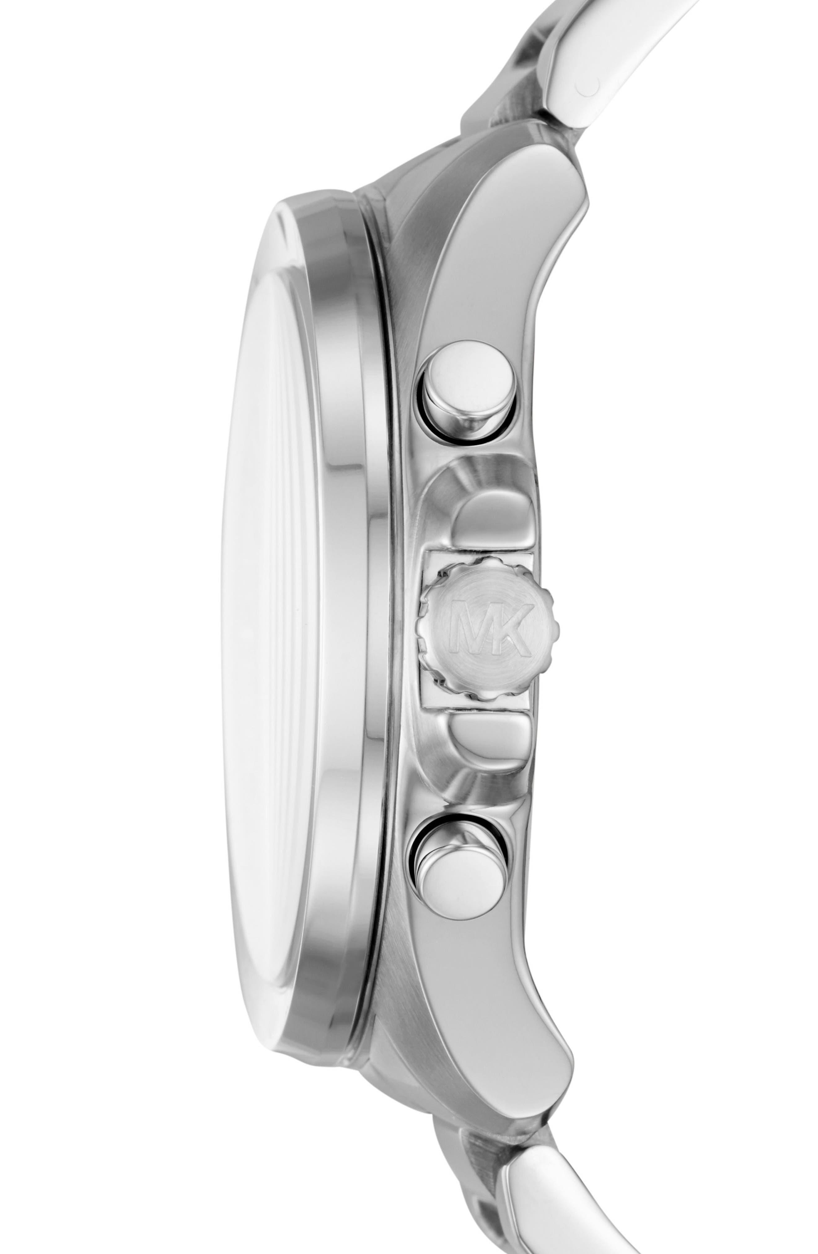 Brecken Chronograph Bracelet Watch, 44mm,                             Alternate thumbnail 2, color,                             Silver/ Grey/ Silver