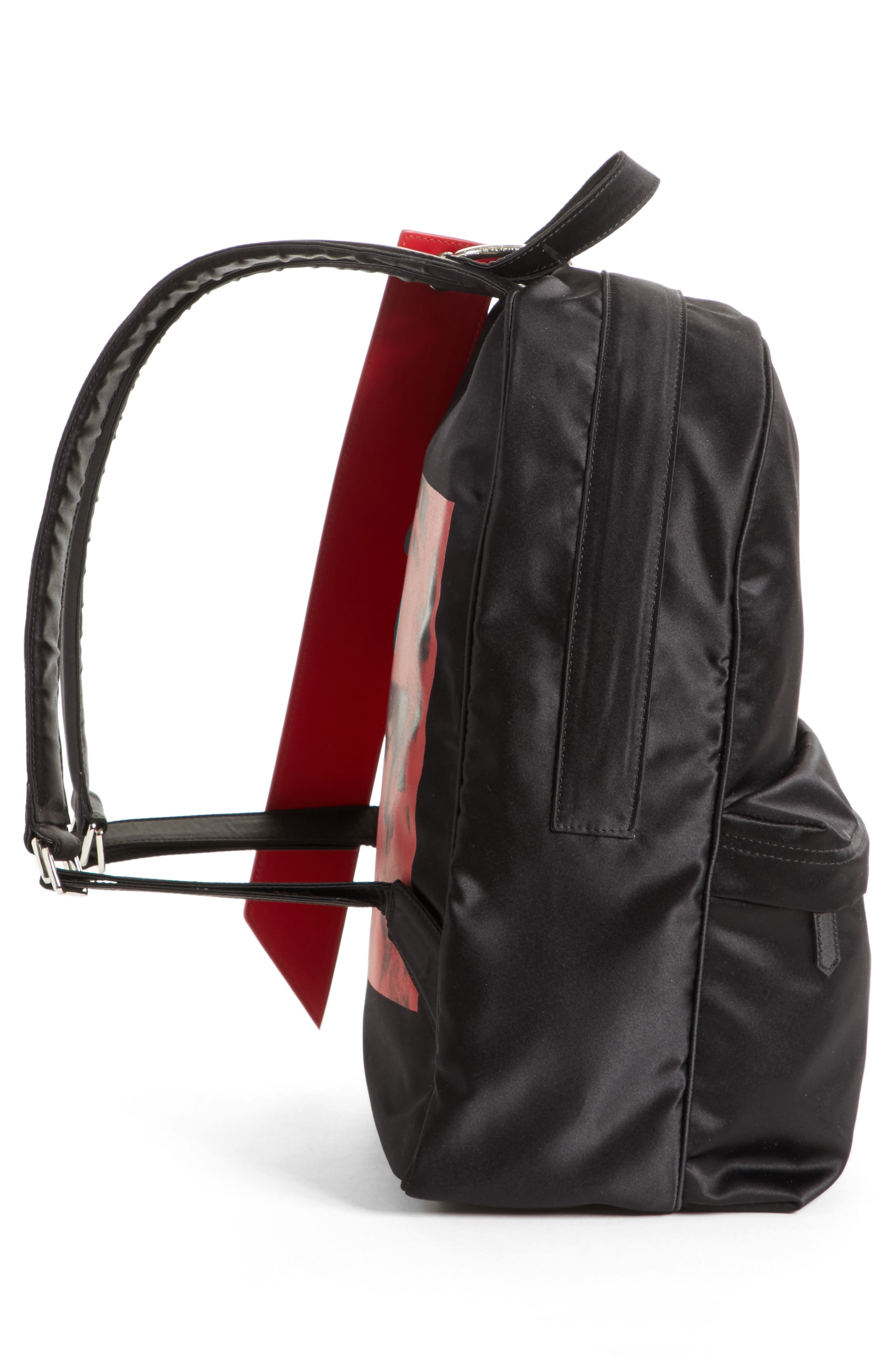 x Andy Warhol Foundation Nylon Backpack,                             Alternate thumbnail 5, color,                             Black/ Red/ Black