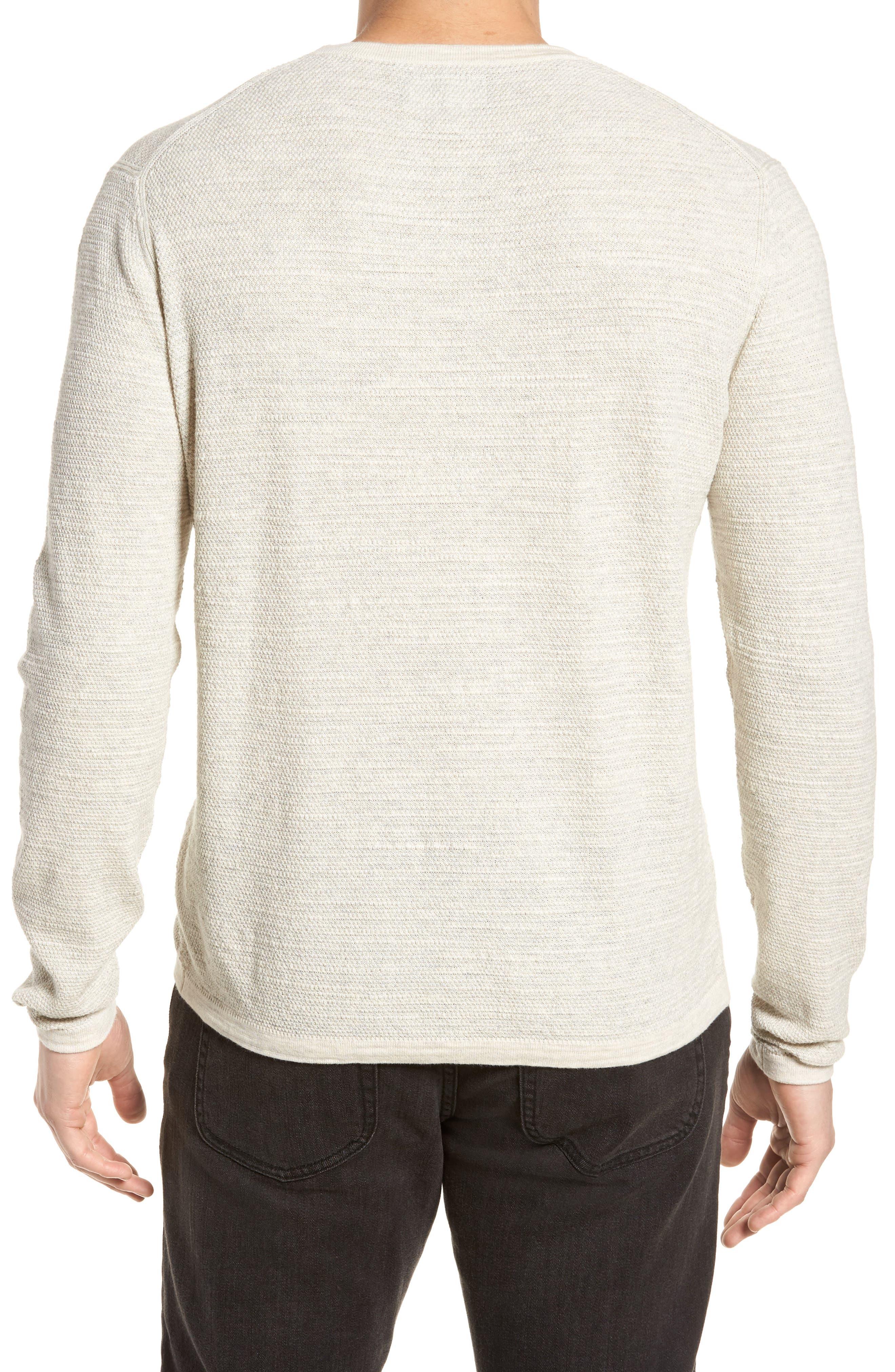Slub Thermal Knit Sweater,                             Alternate thumbnail 2, color,                             Cream Heather