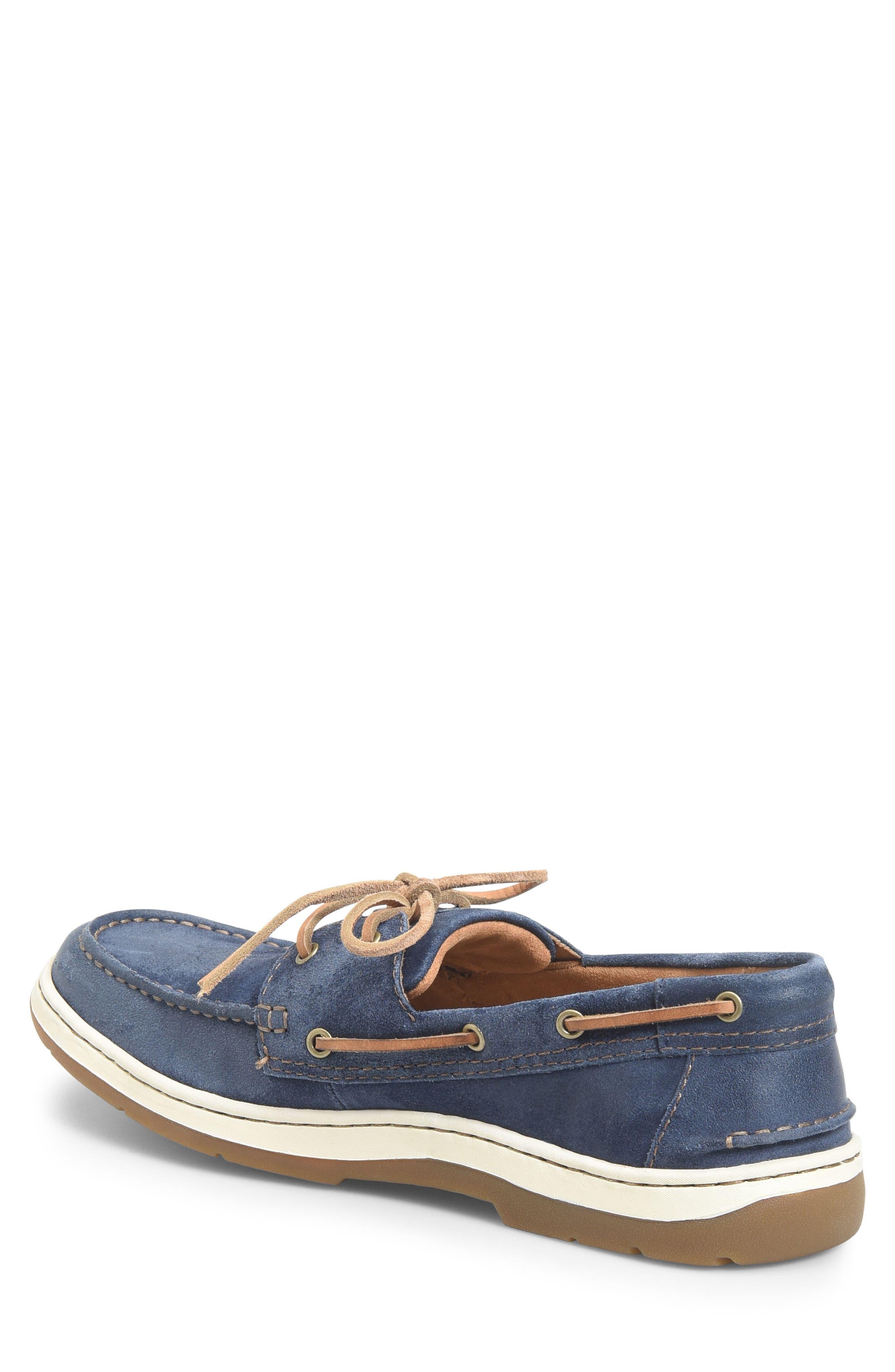 Ocean Boat Shoe,                             Alternate thumbnail 2, color,                             Dark Blue Leather