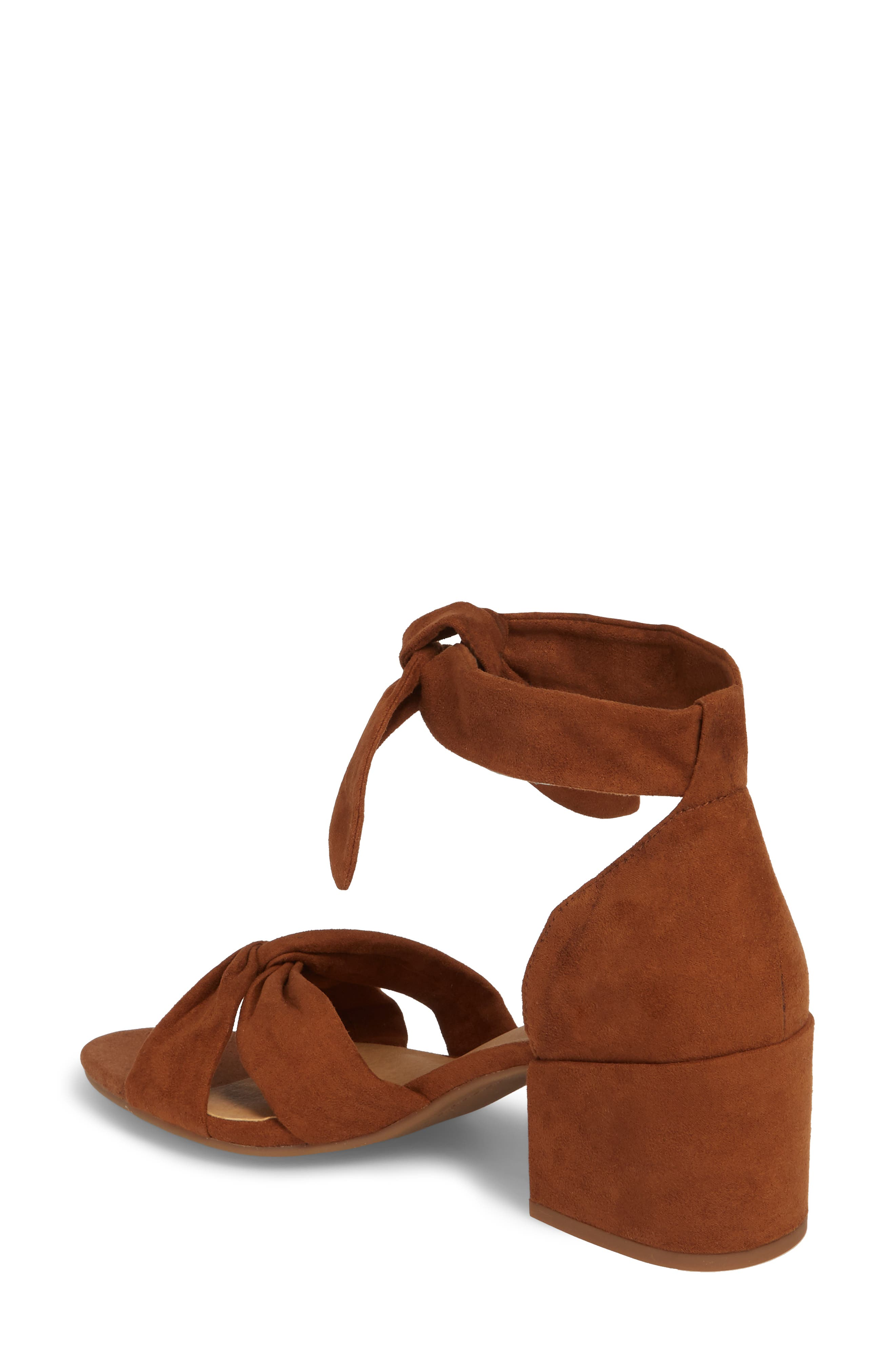 Xaylah Ankle Strap Sandal,                             Alternate thumbnail 2, color,                             Cedar Leather