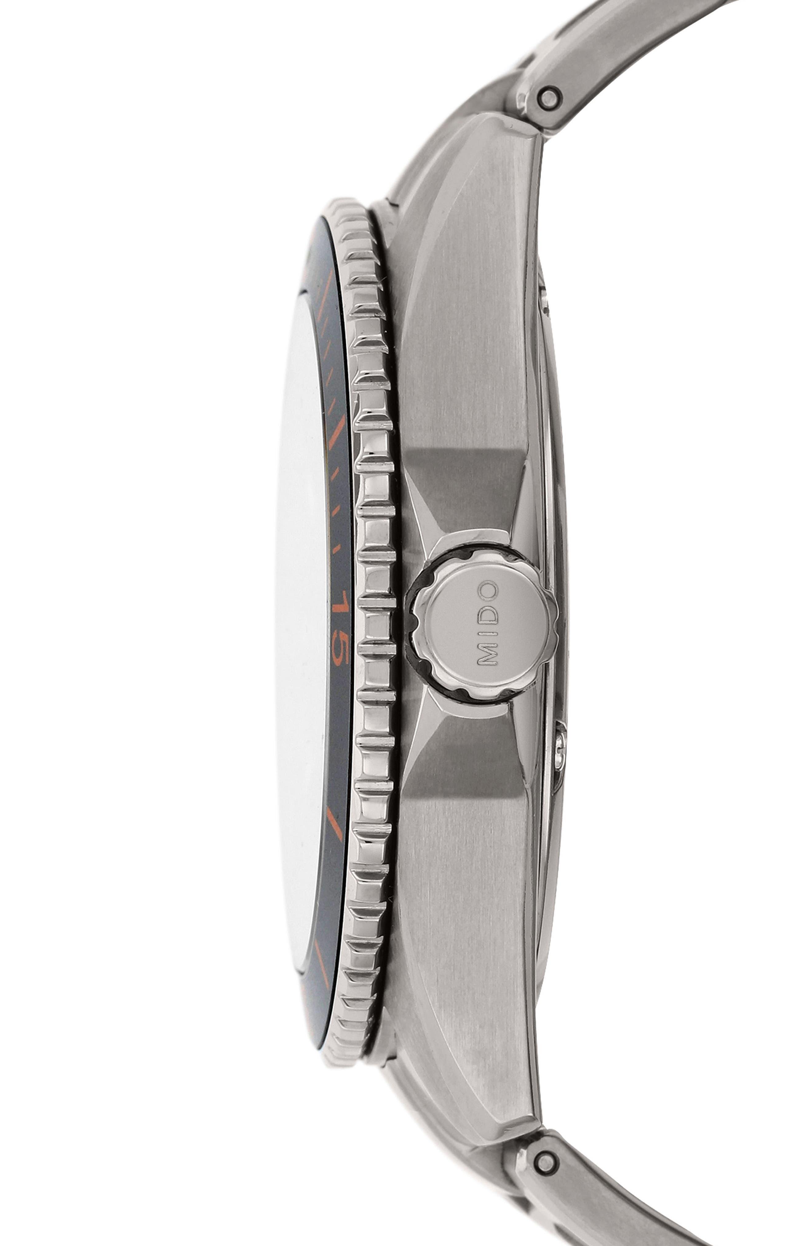Ocean Star Diver Bracelet Watch, 42mm,                             Alternate thumbnail 3, color,                             Grey