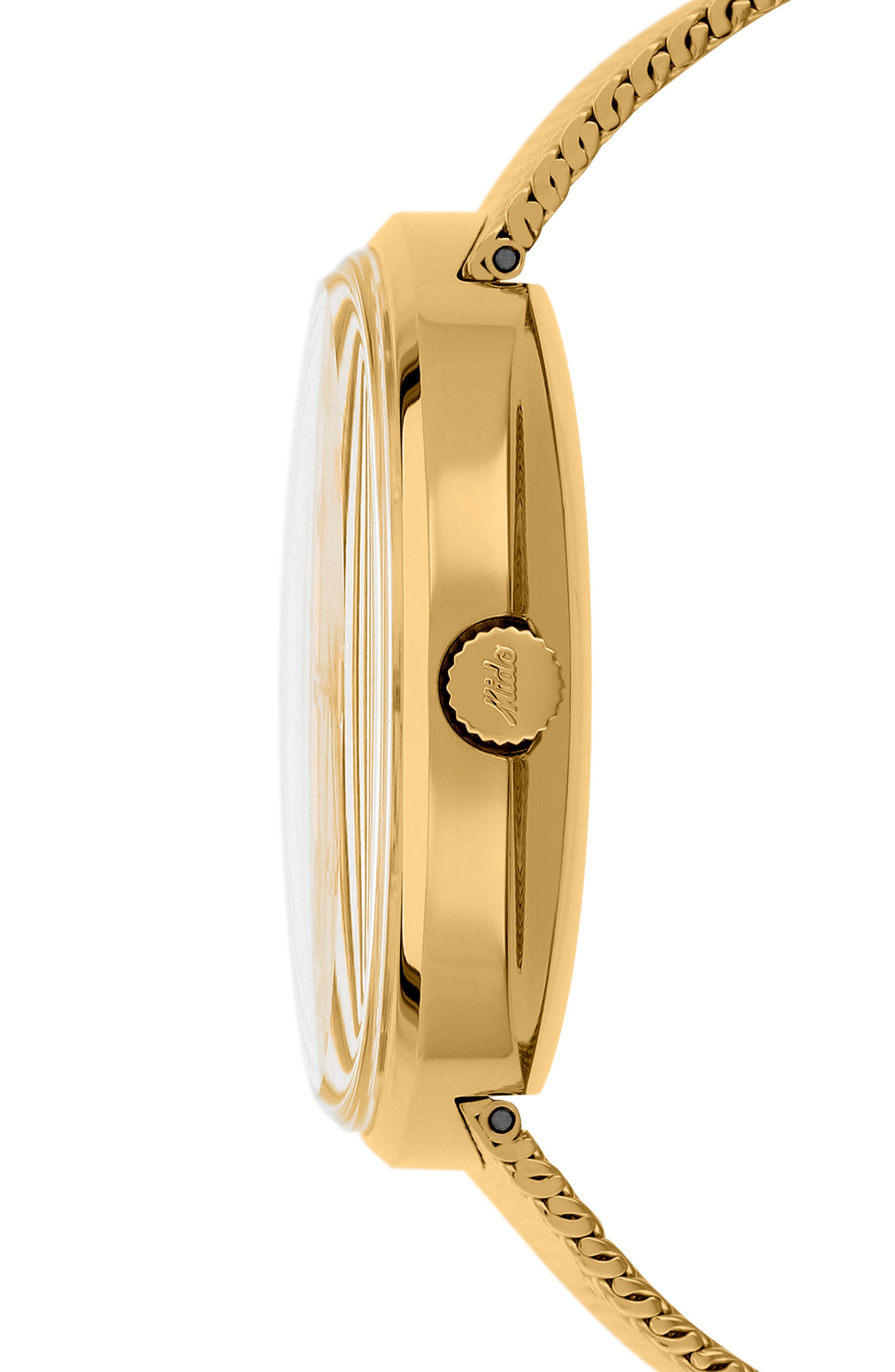 Commander Automatic Mesh Strap Watch, 37mm,                             Alternate thumbnail 2, color,                             Gold/ Yellow/ Gold