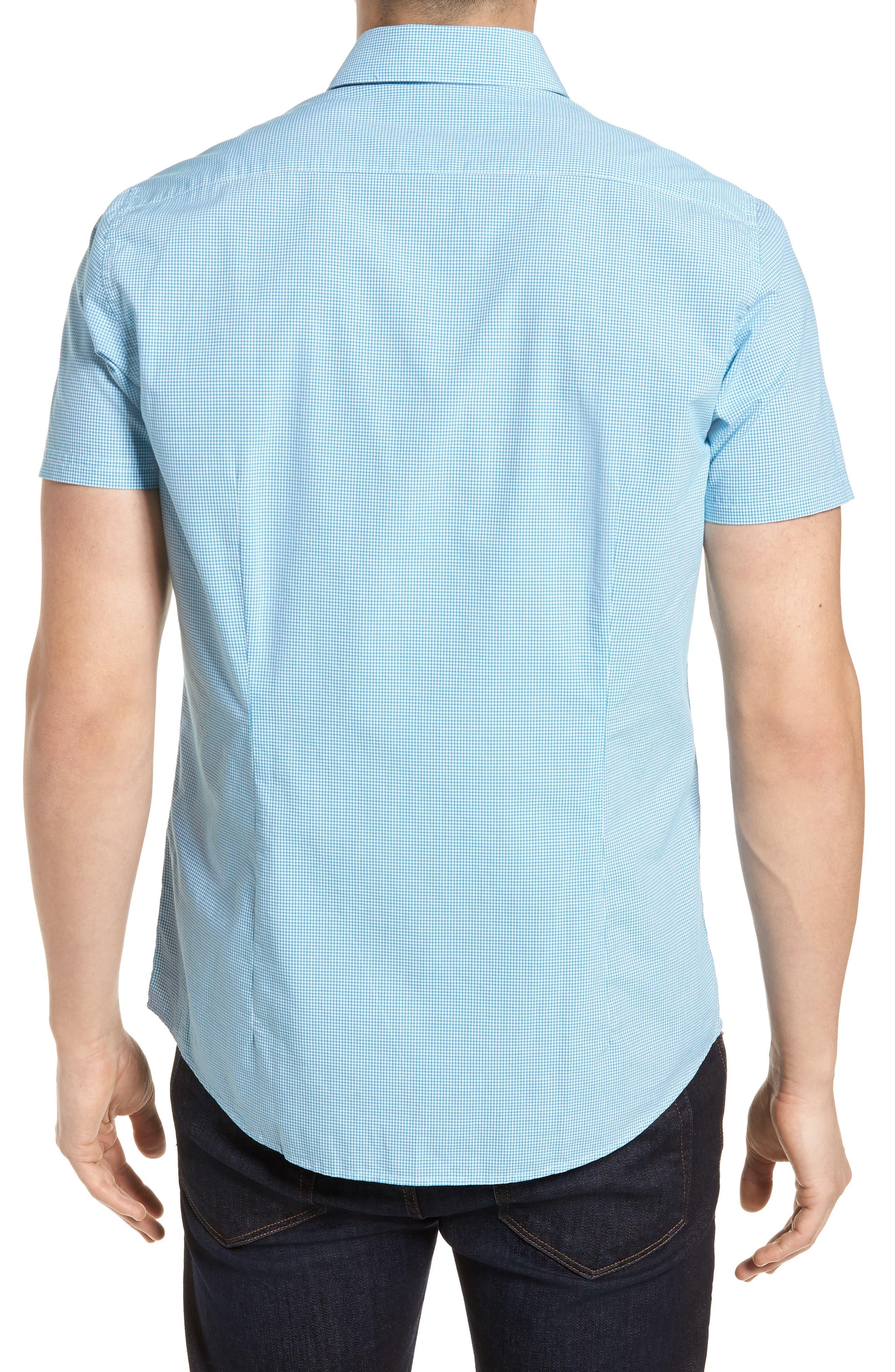 Triston Regular Fit Check Sport Shirt,                             Alternate thumbnail 2, color,                             Turquoise