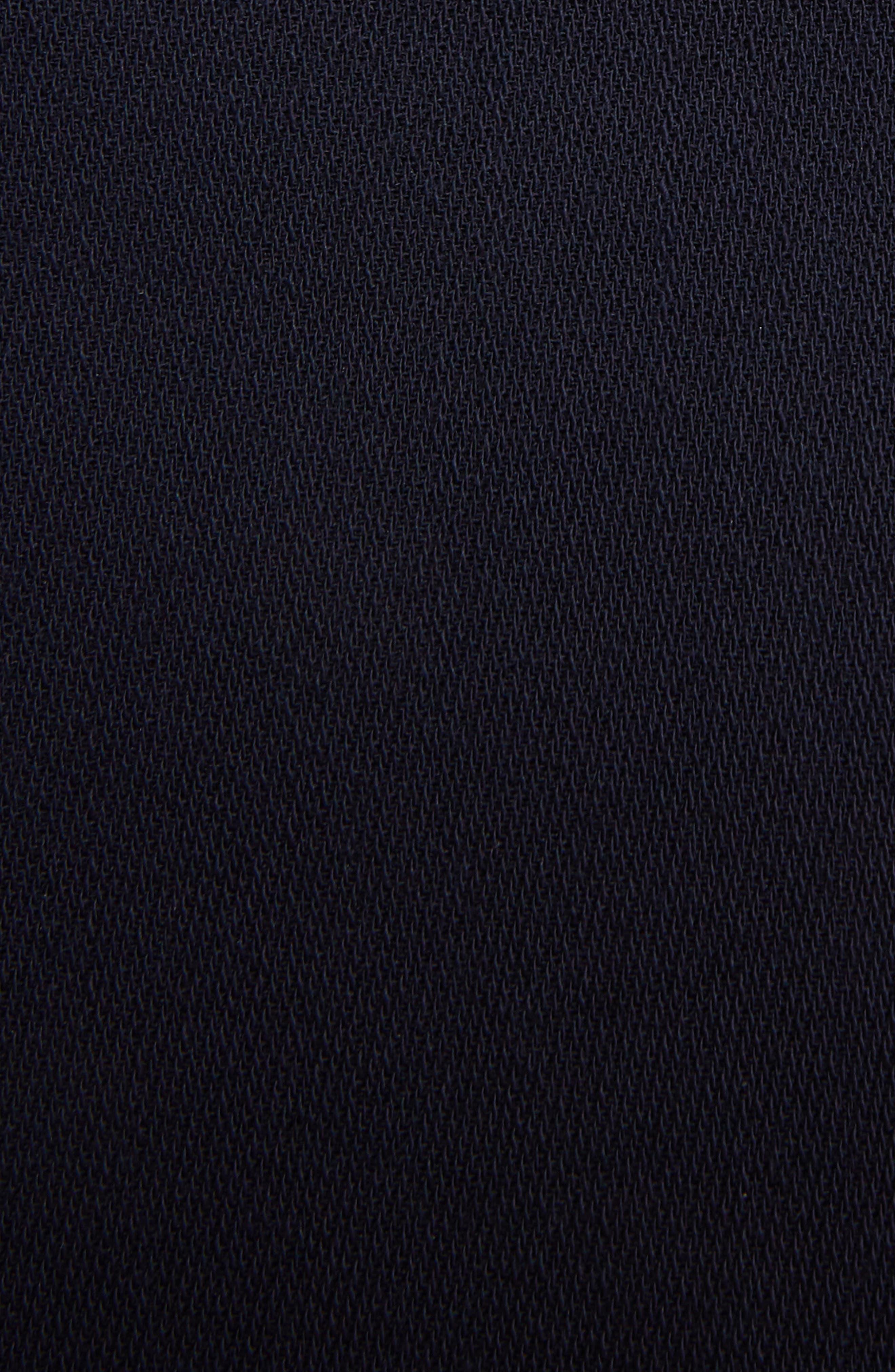 Pleat Panel Wool Skirt,                             Alternate thumbnail 6, color,                             Navy/ Red