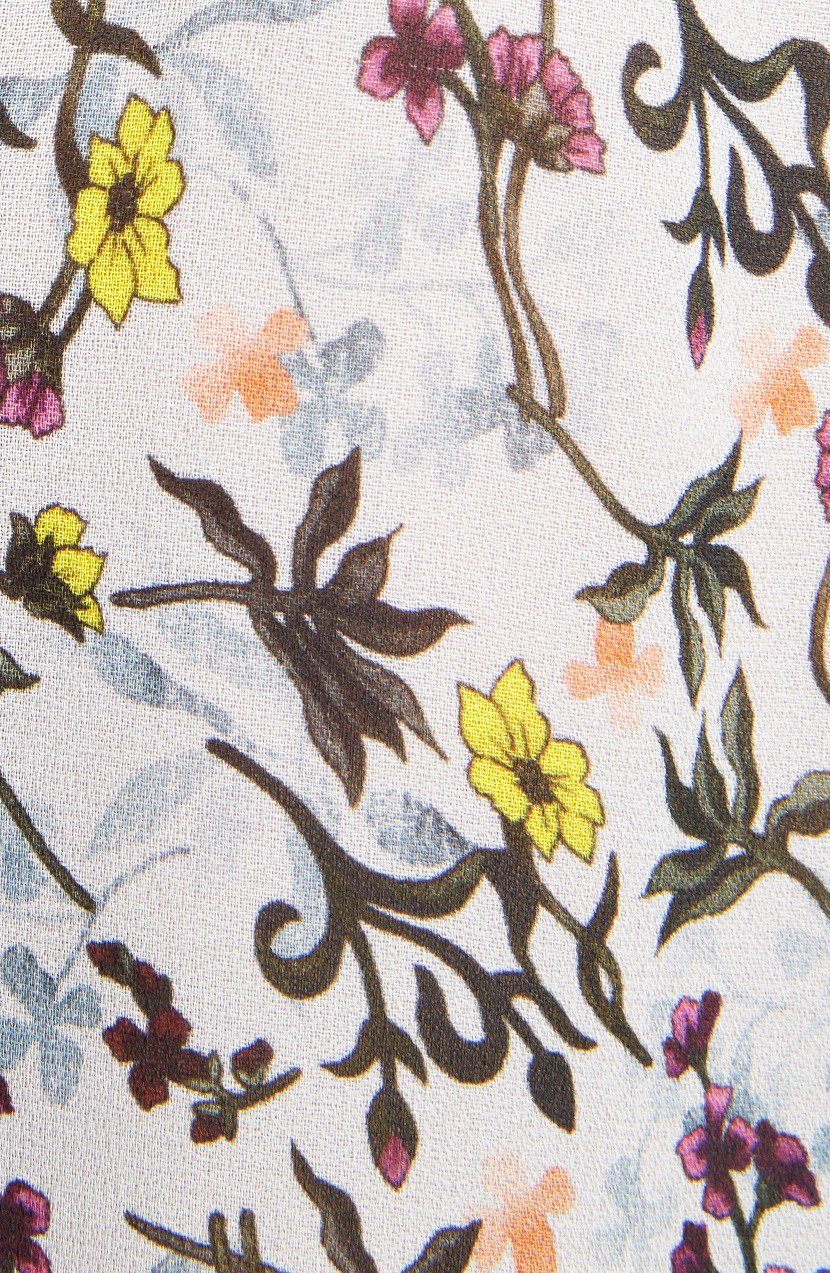 Alternate Image 5  - Chloé Floral Print Georgette Blouse