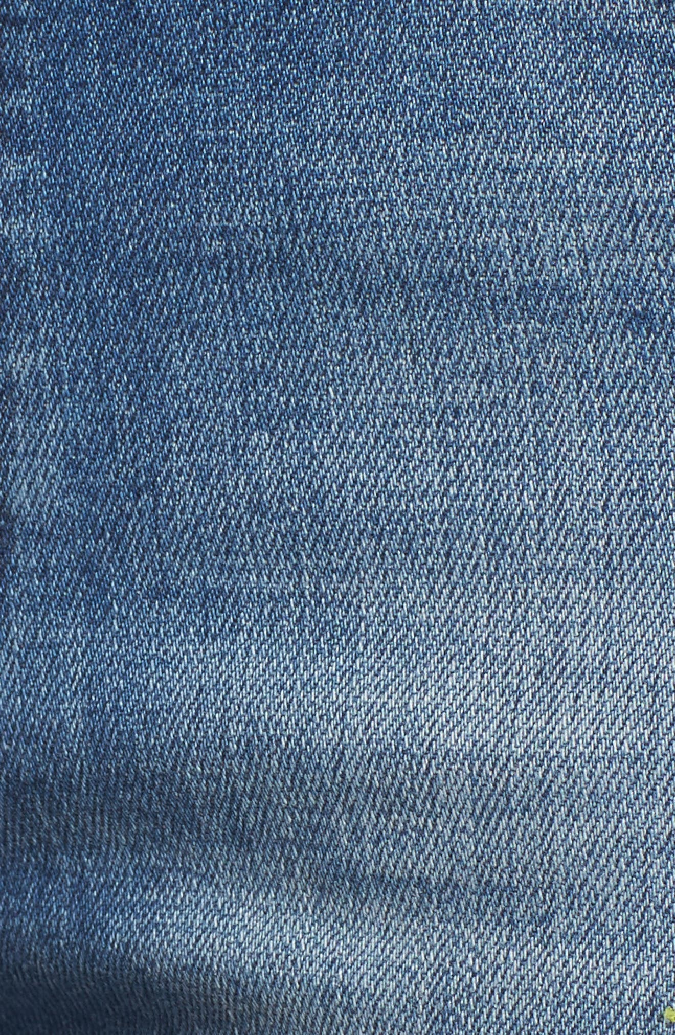 Paradise High Waist Skinny Jeans,                             Alternate thumbnail 6, color,                             Mid Blue