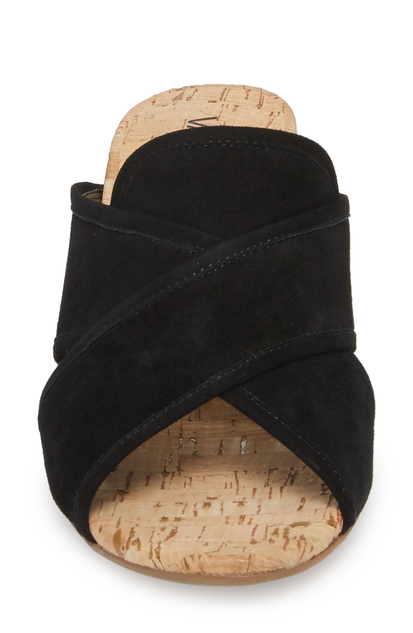 Merana Sandal,                             Alternate thumbnail 4, color,                             Black Suede