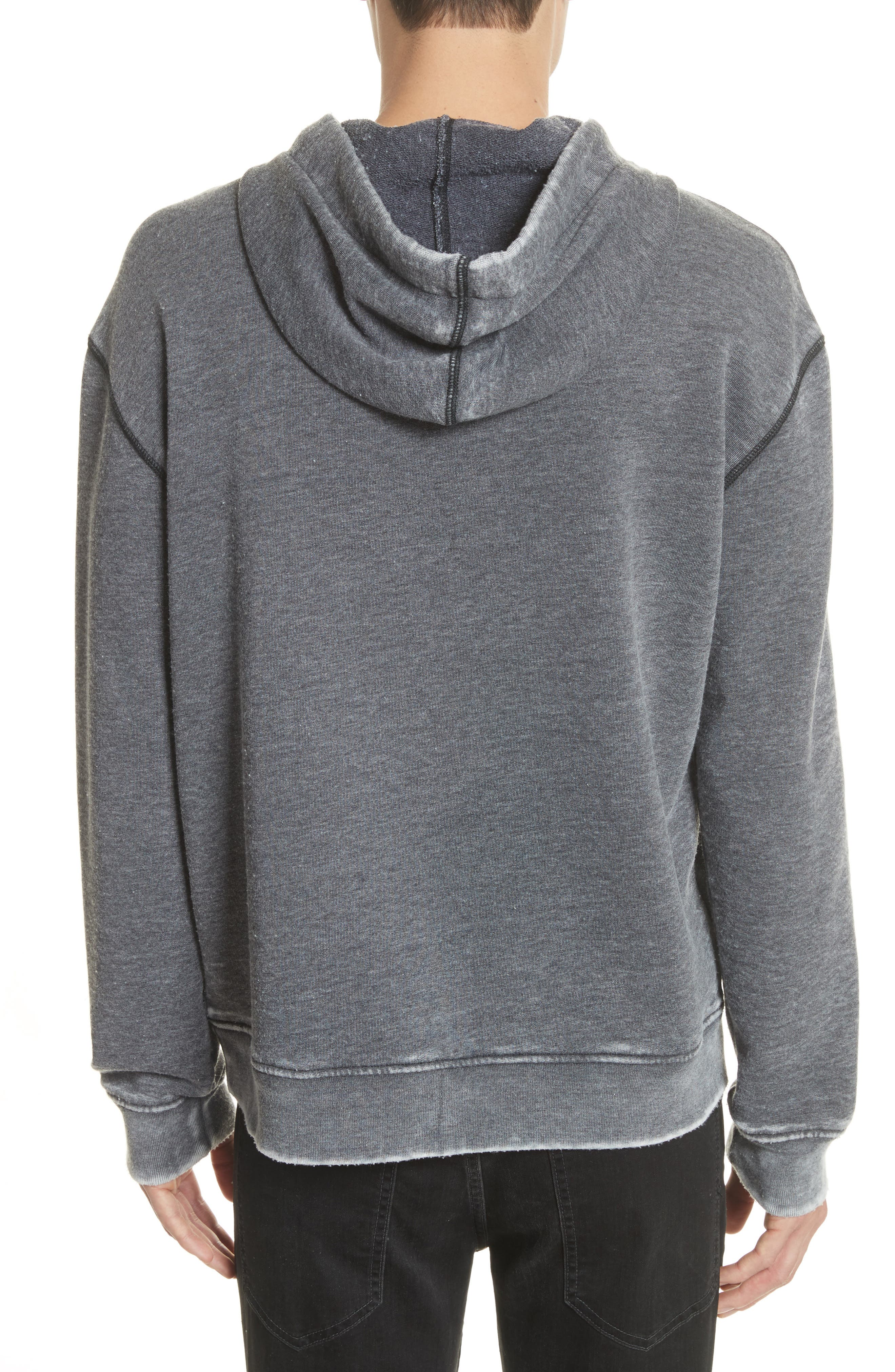 Hoodie,                             Alternate thumbnail 2, color,                             Bleached Charcoal
