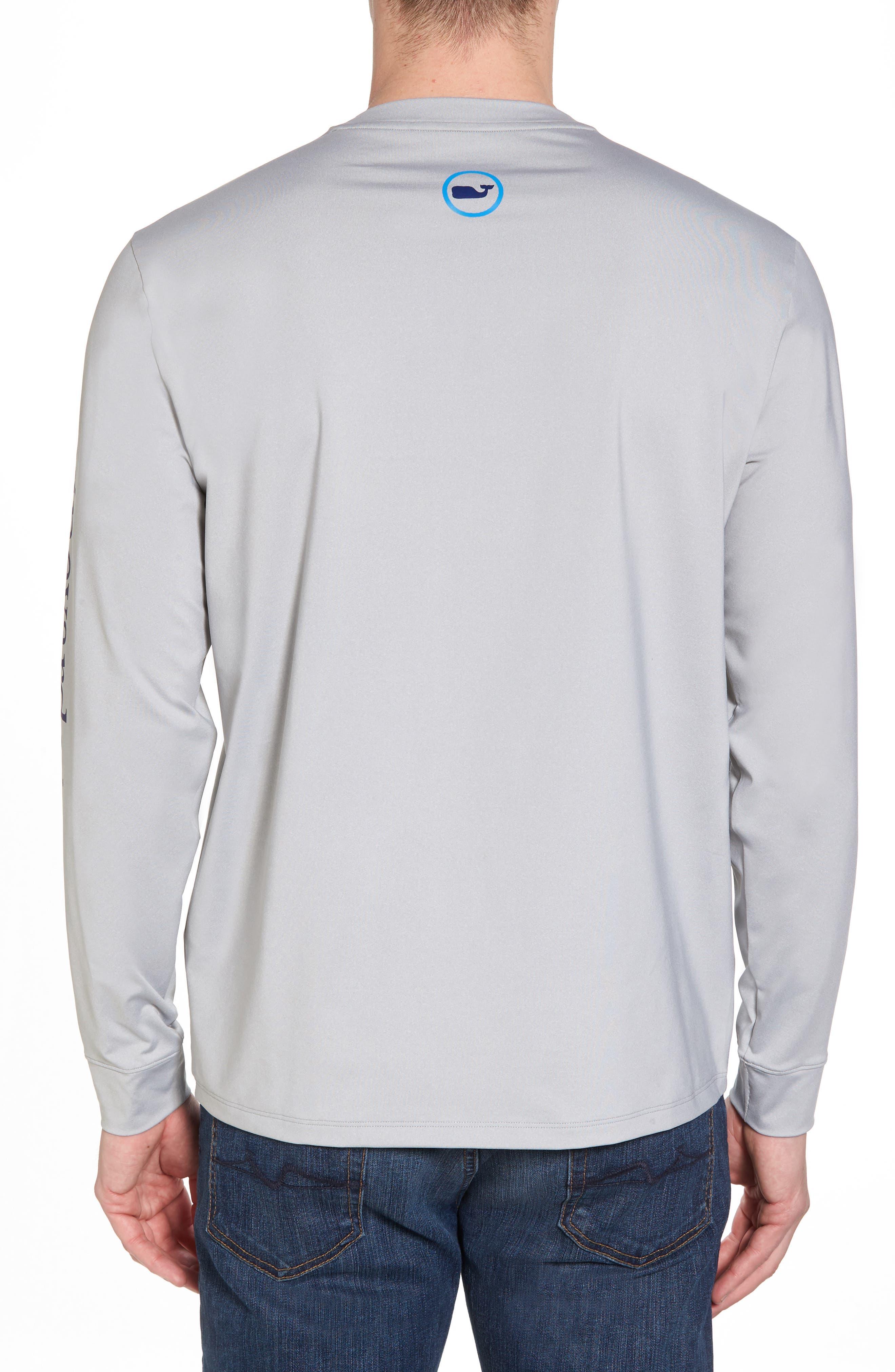Heathered Long Sleeve Performance T-Shirt,                             Alternate thumbnail 2, color,                             Gray Heather