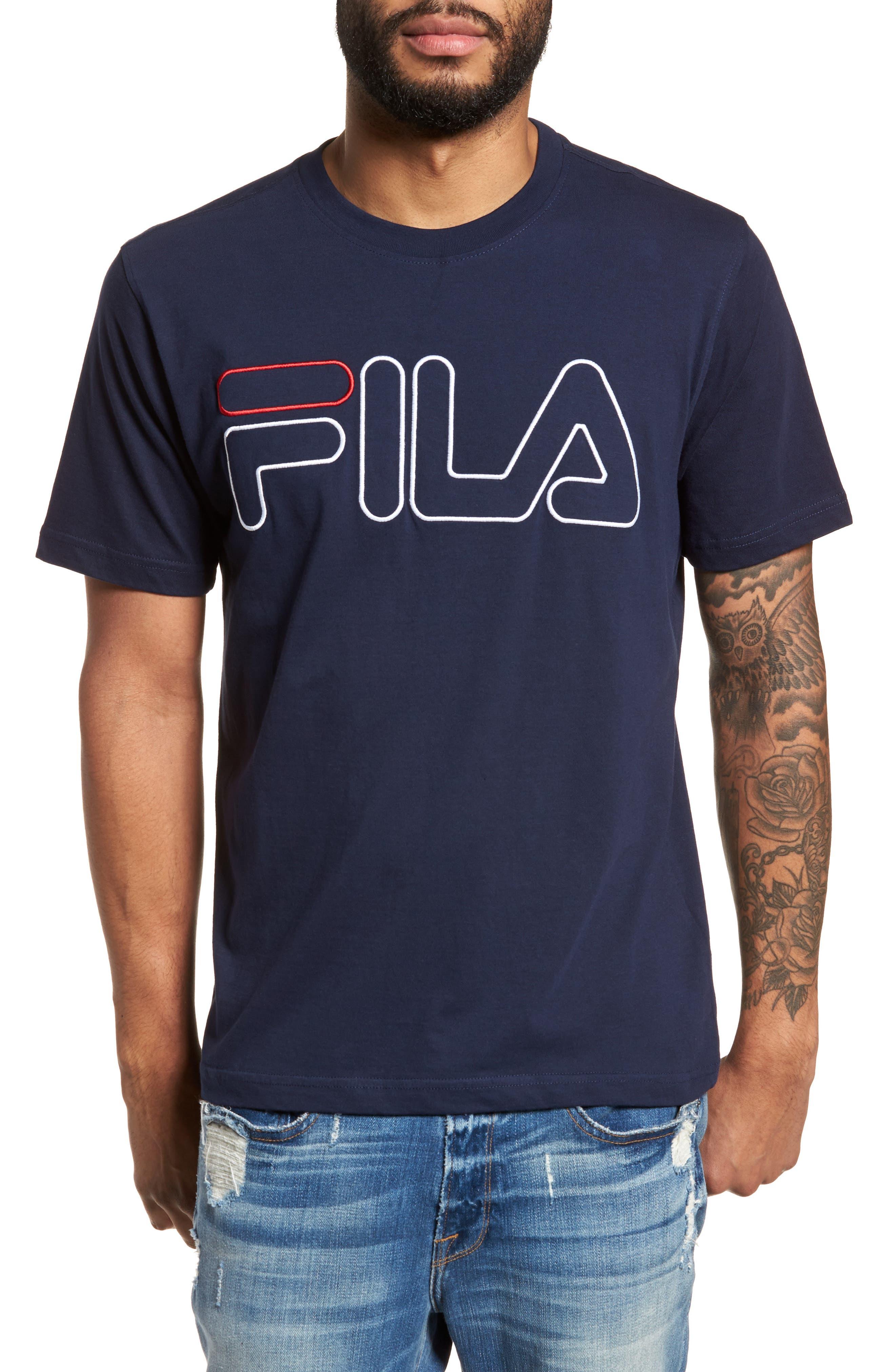 Logo T-Shirt,                             Main thumbnail 1, color,                             Navy/ White/ Chinese Red