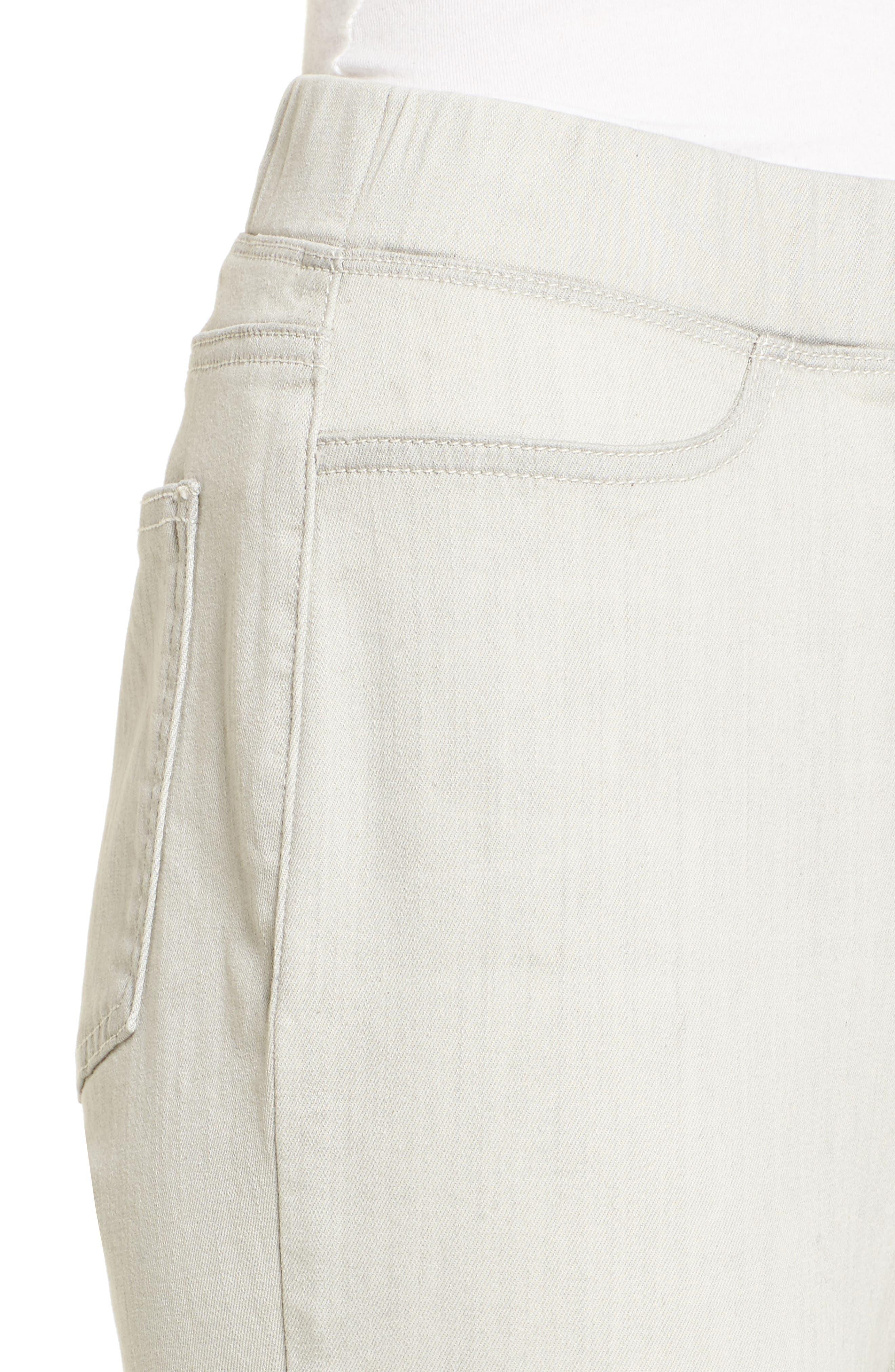 Stretch Denim Leggings,                             Alternate thumbnail 4, color,                             Light Grey