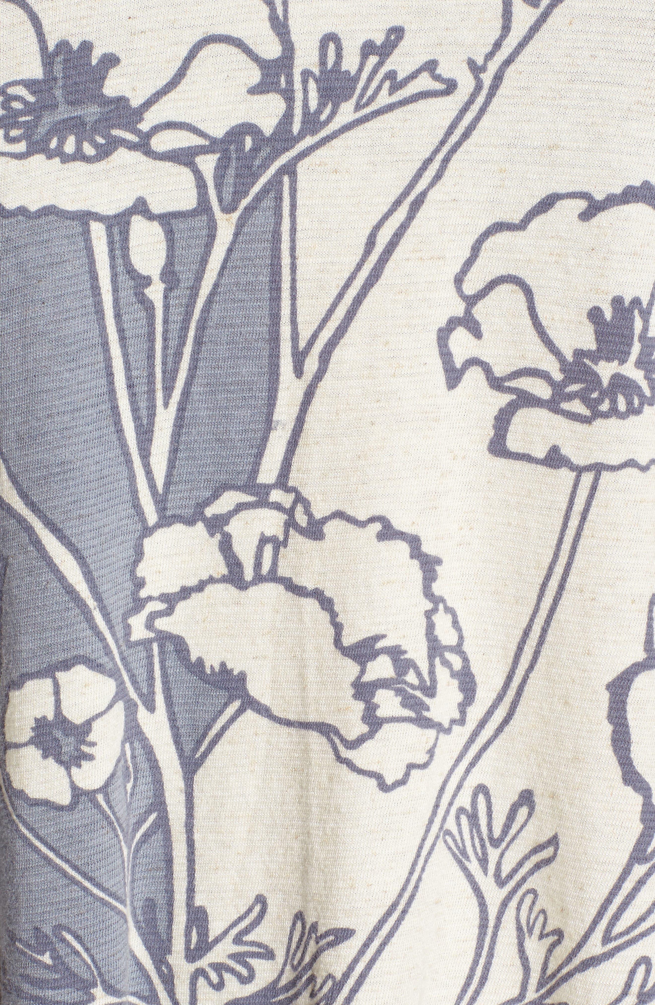 Floral Print Tank,                             Alternate thumbnail 5, color,                             Blue Multi