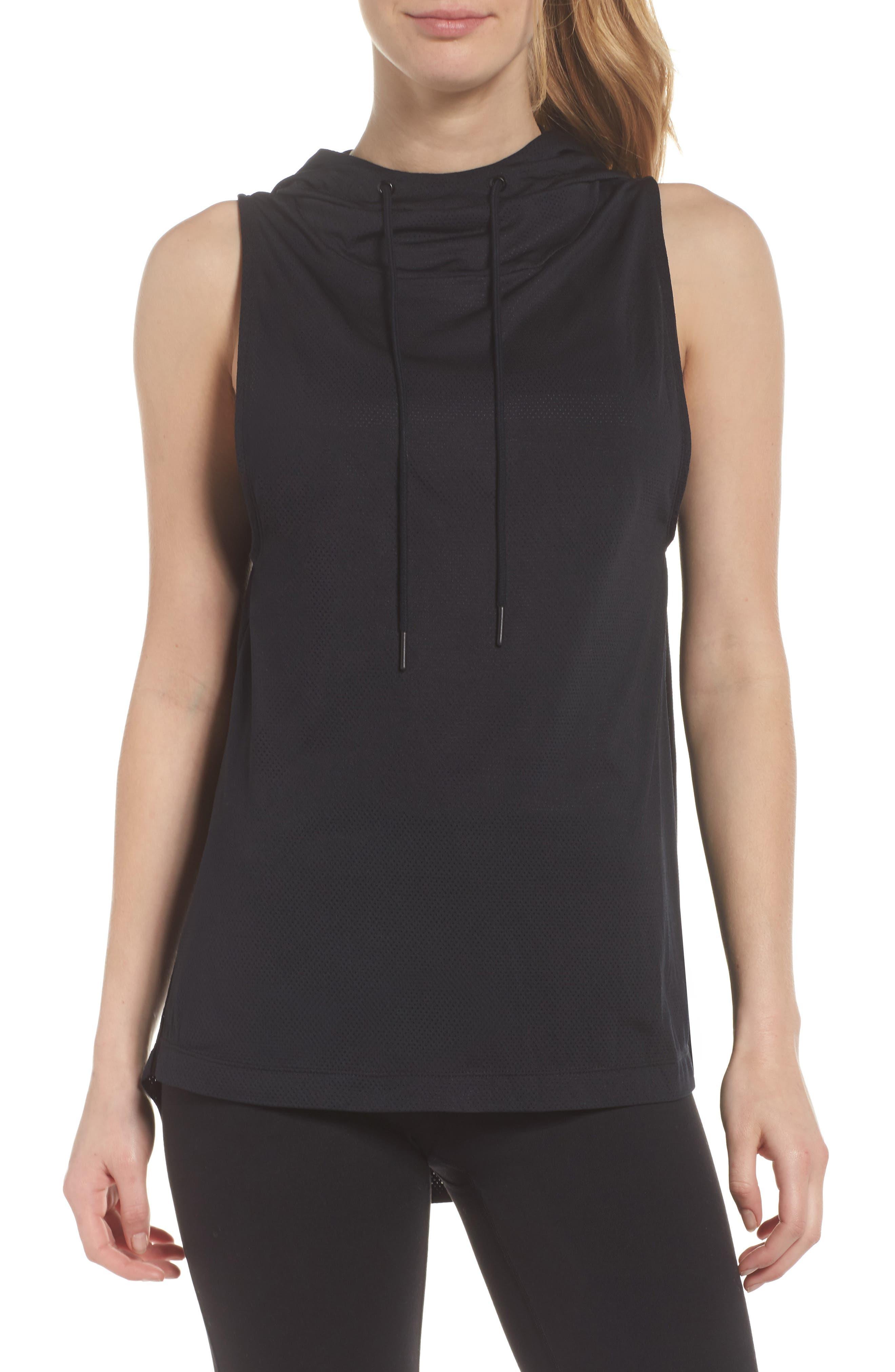 Endurance Hoodie Vest,                         Main,                         color, Black