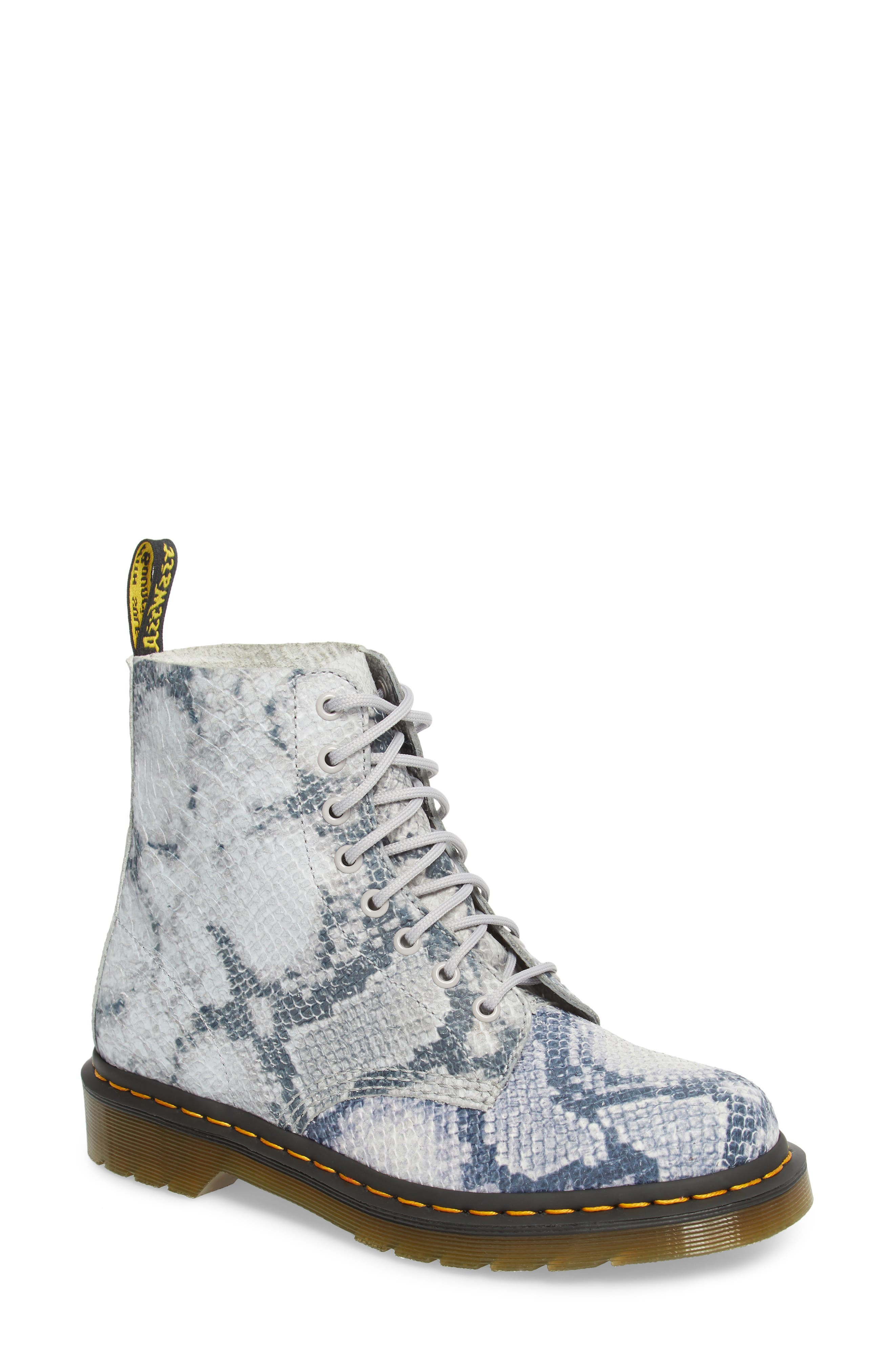 Pascal Snake Boot,                         Main,                         color, Light Grey Leather