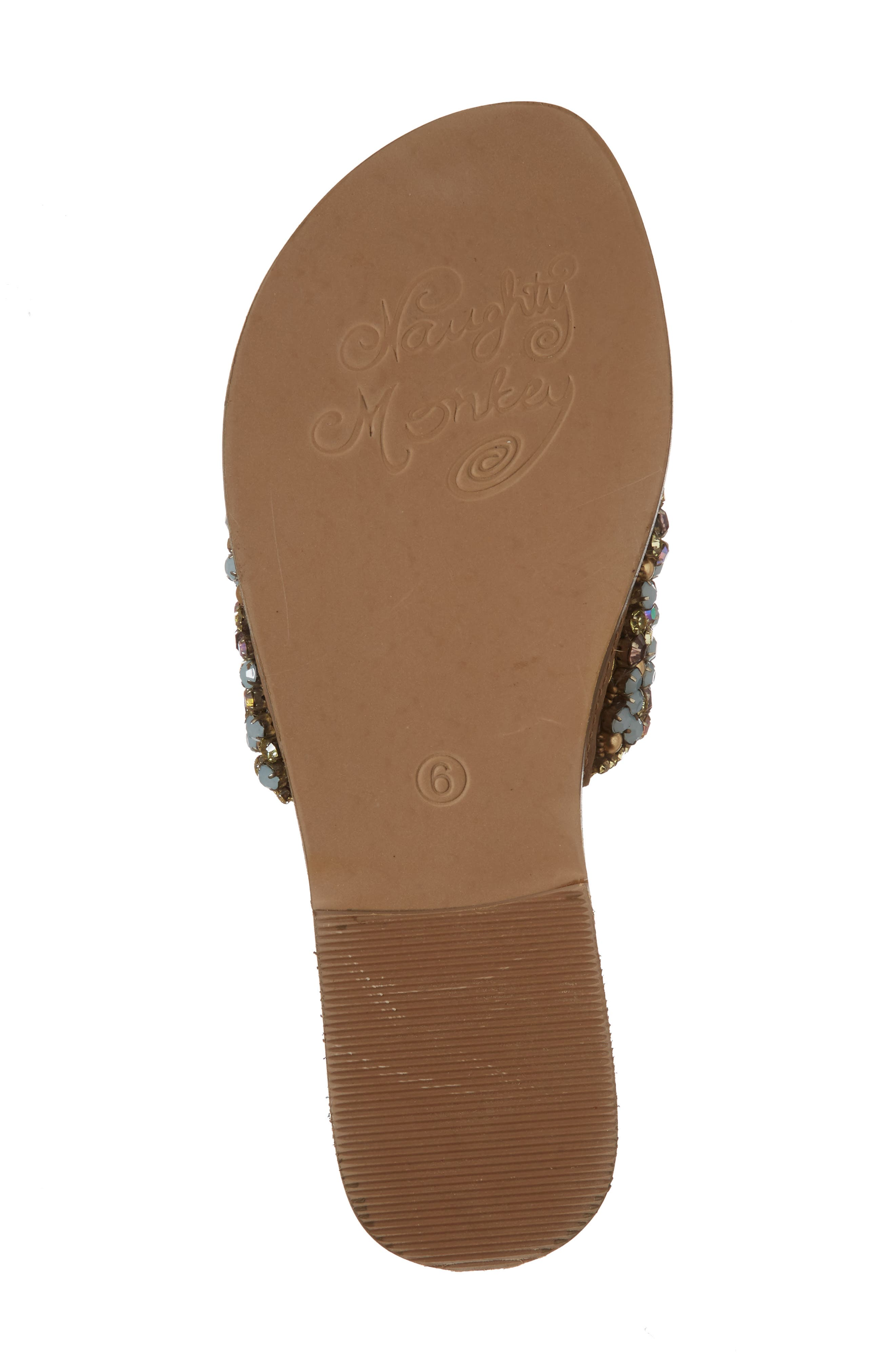 Susanna Embellished Slide Sandal,                             Alternate thumbnail 6, color,                             Multi Leather