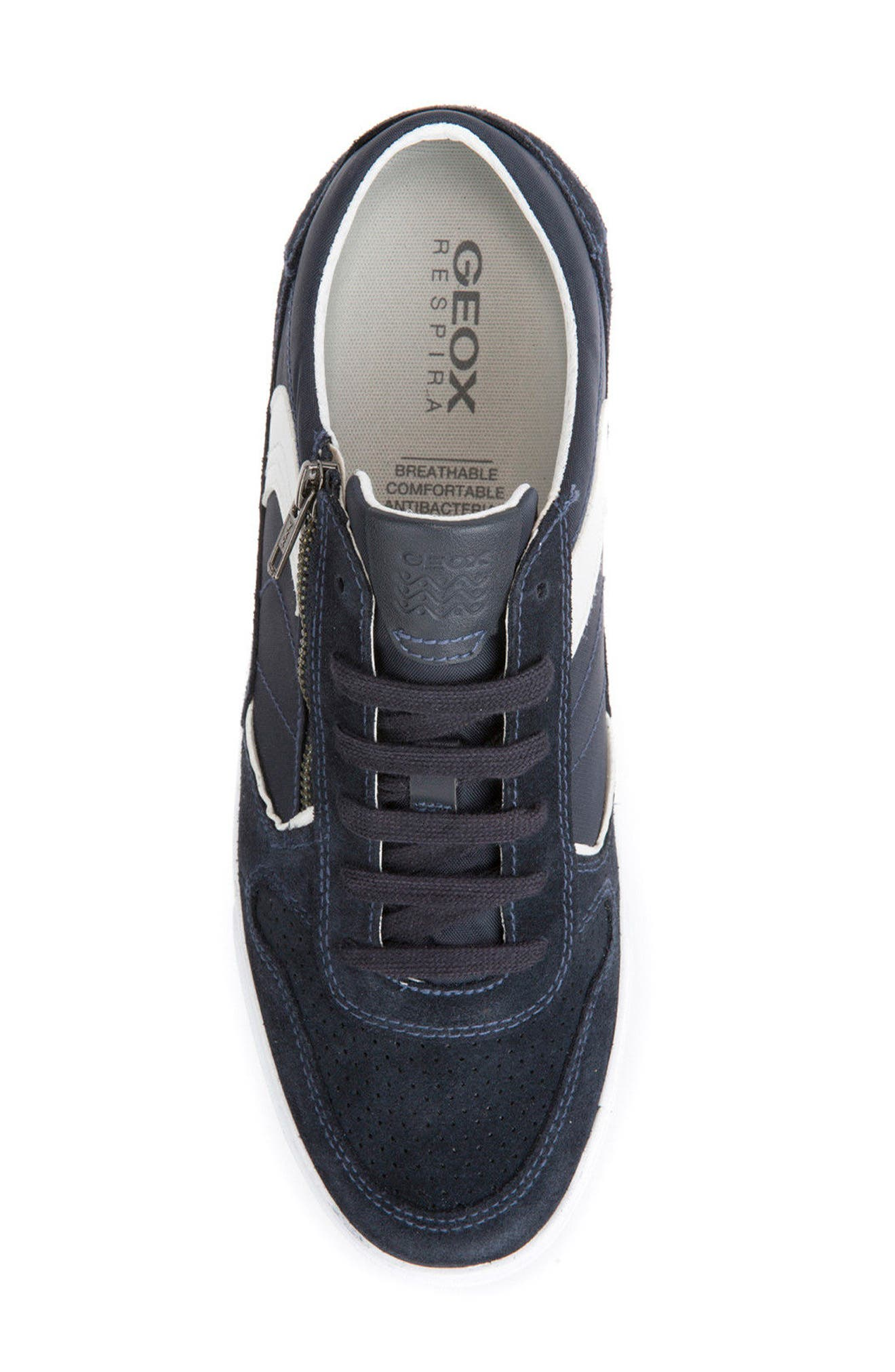 Box 33 Low Top Zip Sneaker,                             Alternate thumbnail 5, color,                             Navy