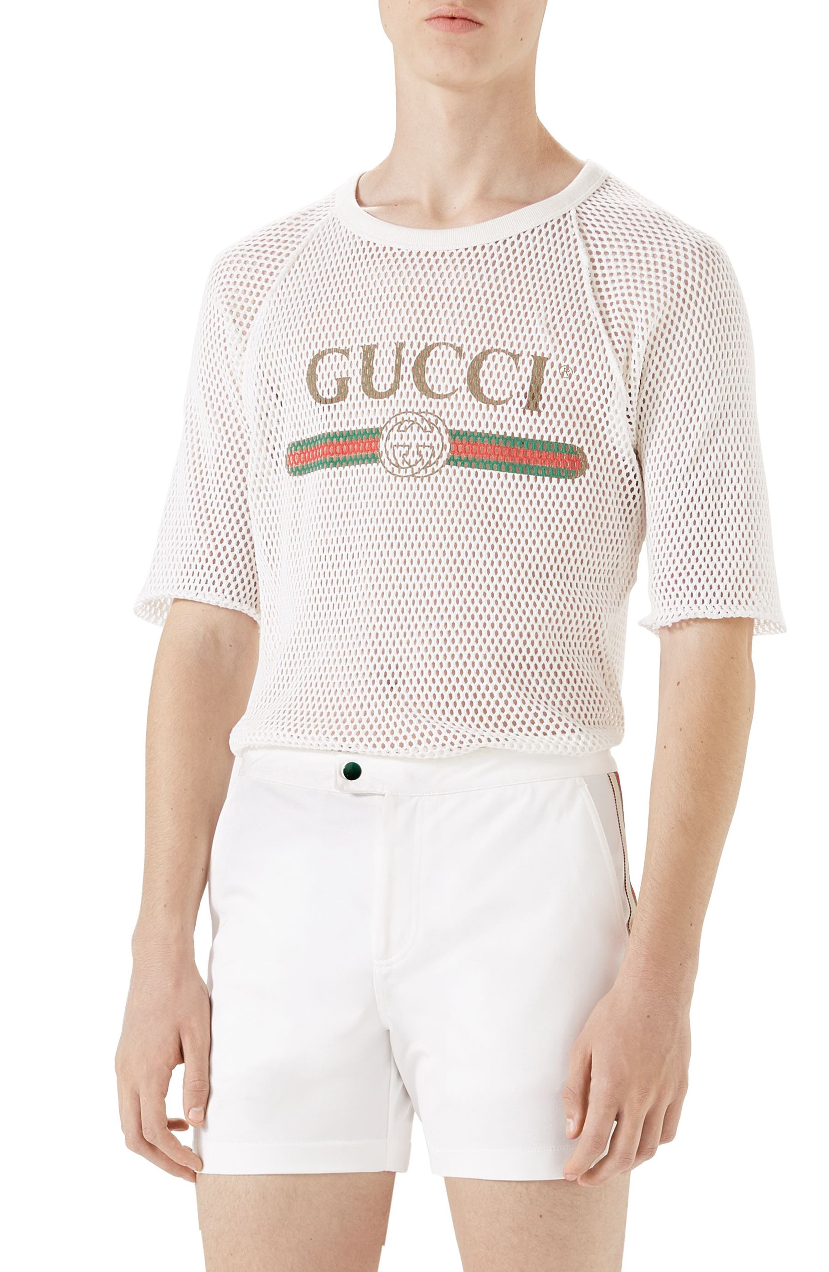 Gucci Logo Mesh T-Shirt