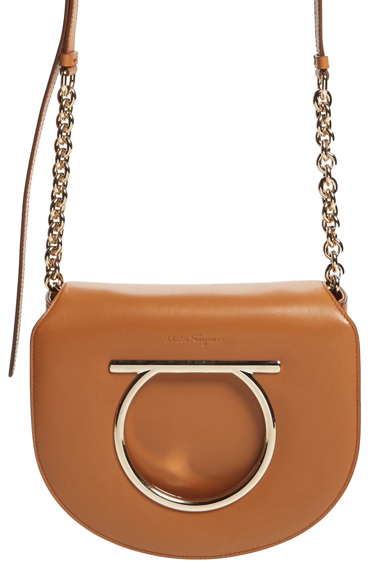Salvatore Ferragamo Vela Leather Crossbody Bag