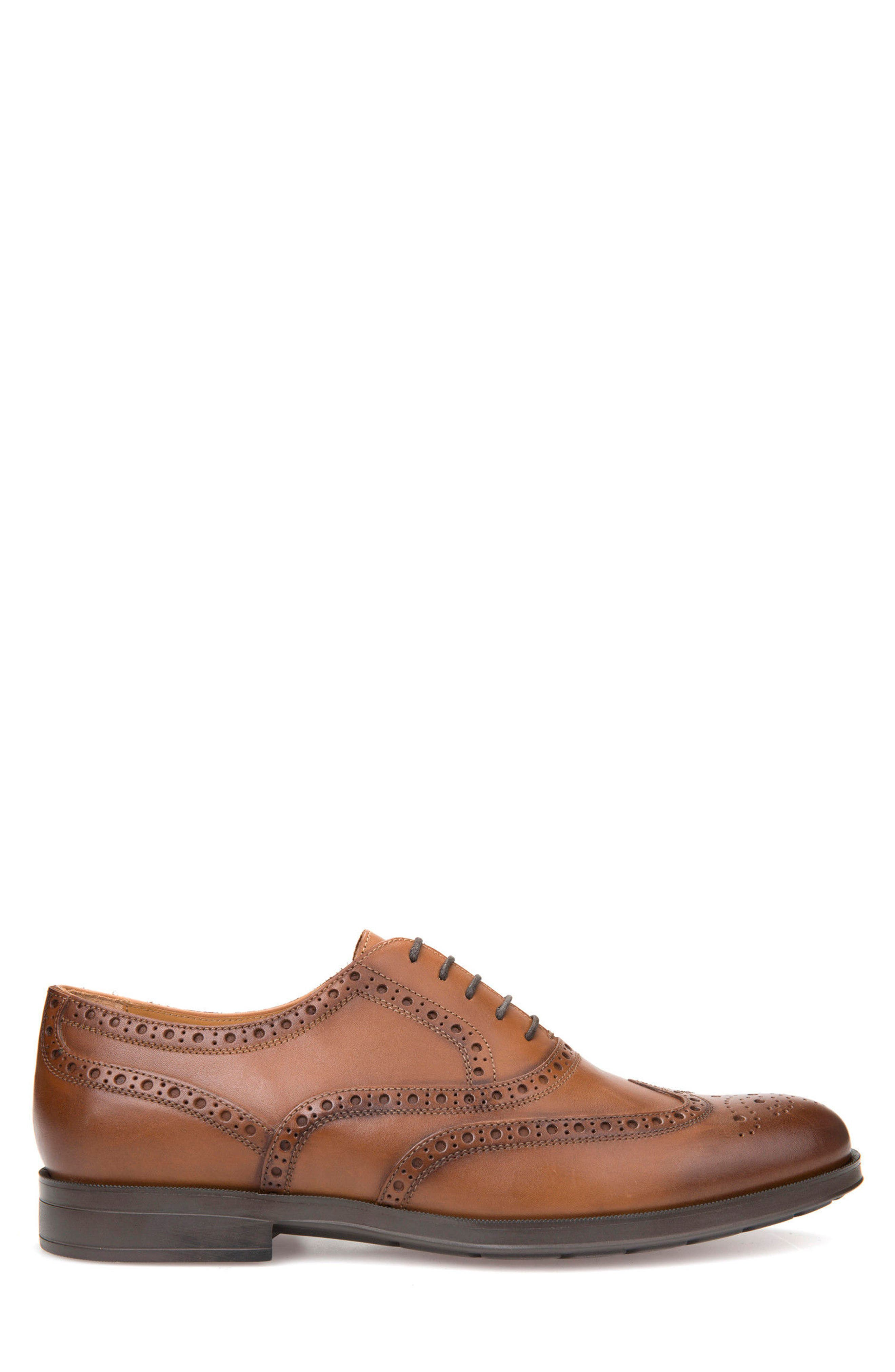 Hilstone 2Fit 2 Wingtip Oxford,                             Alternate thumbnail 3, color,                             Cognac Leather