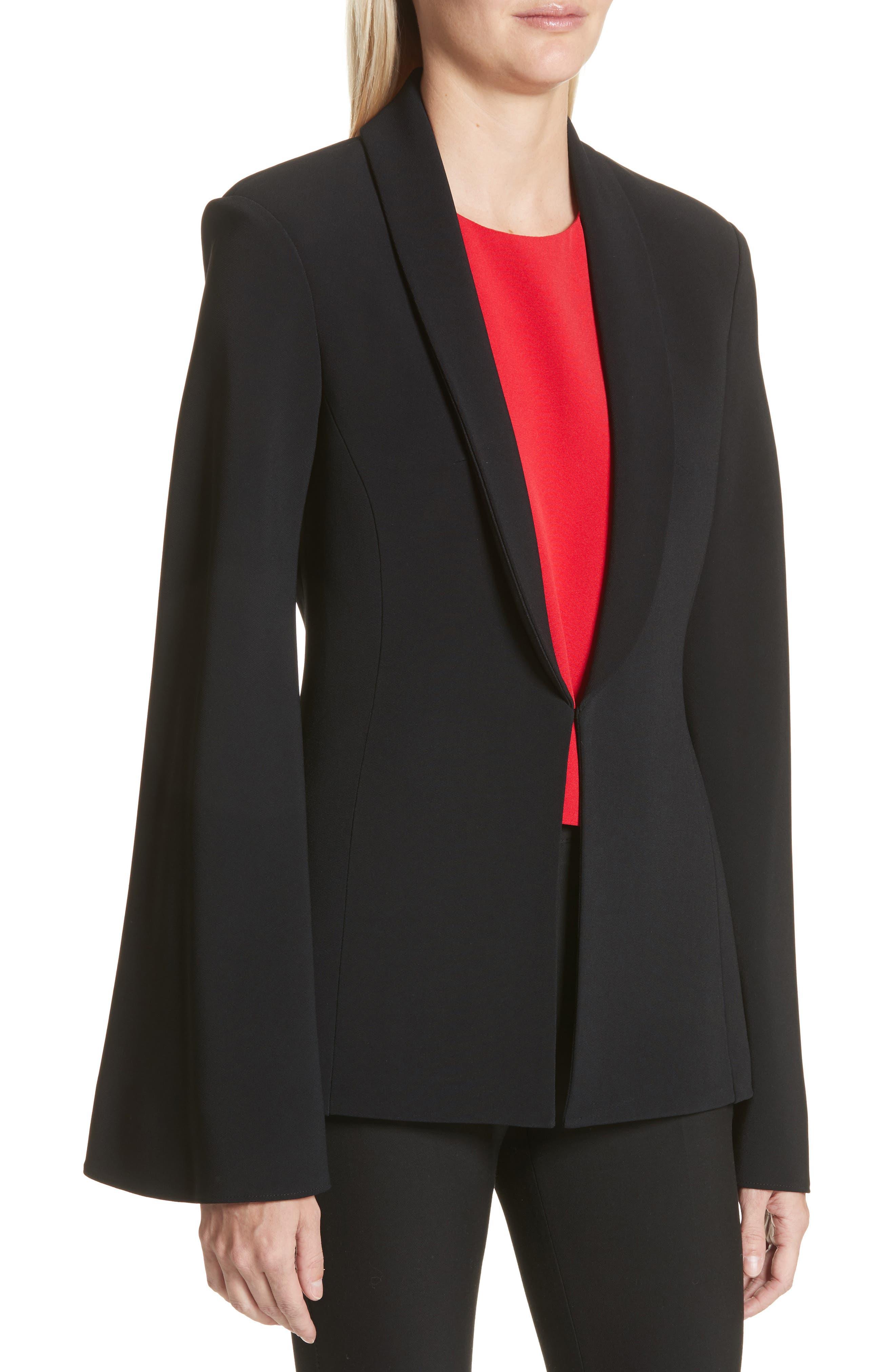 Main Image - Brandon Maxwell Crepe Flare Sleeve Tuxedo Jacket