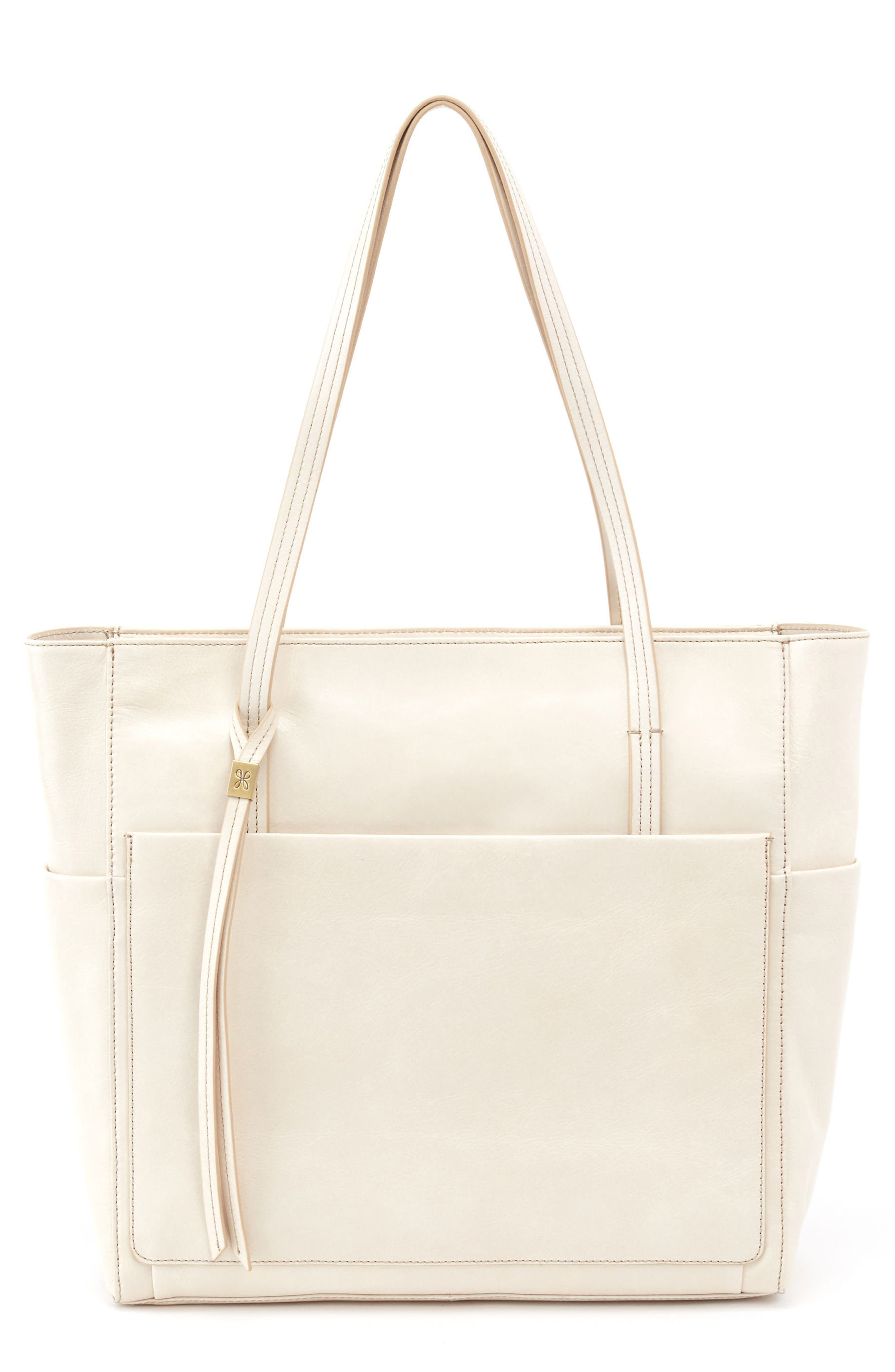Hero Leather Tote,                         Main,                         color, Magnolia