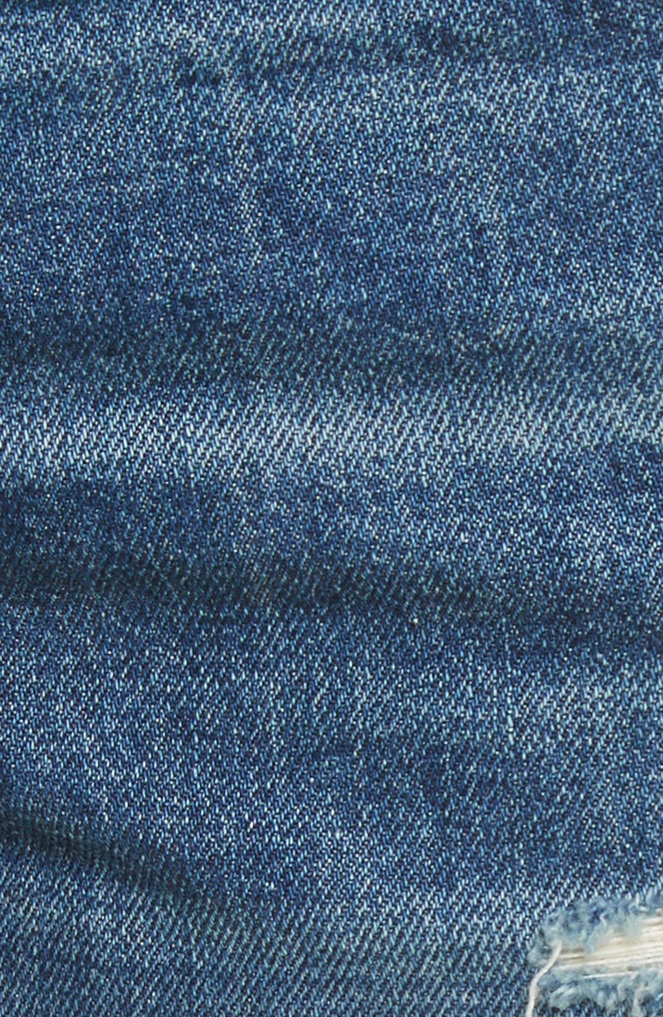 Cutoff Denim Shorts,                             Alternate thumbnail 6, color,                             Johnny