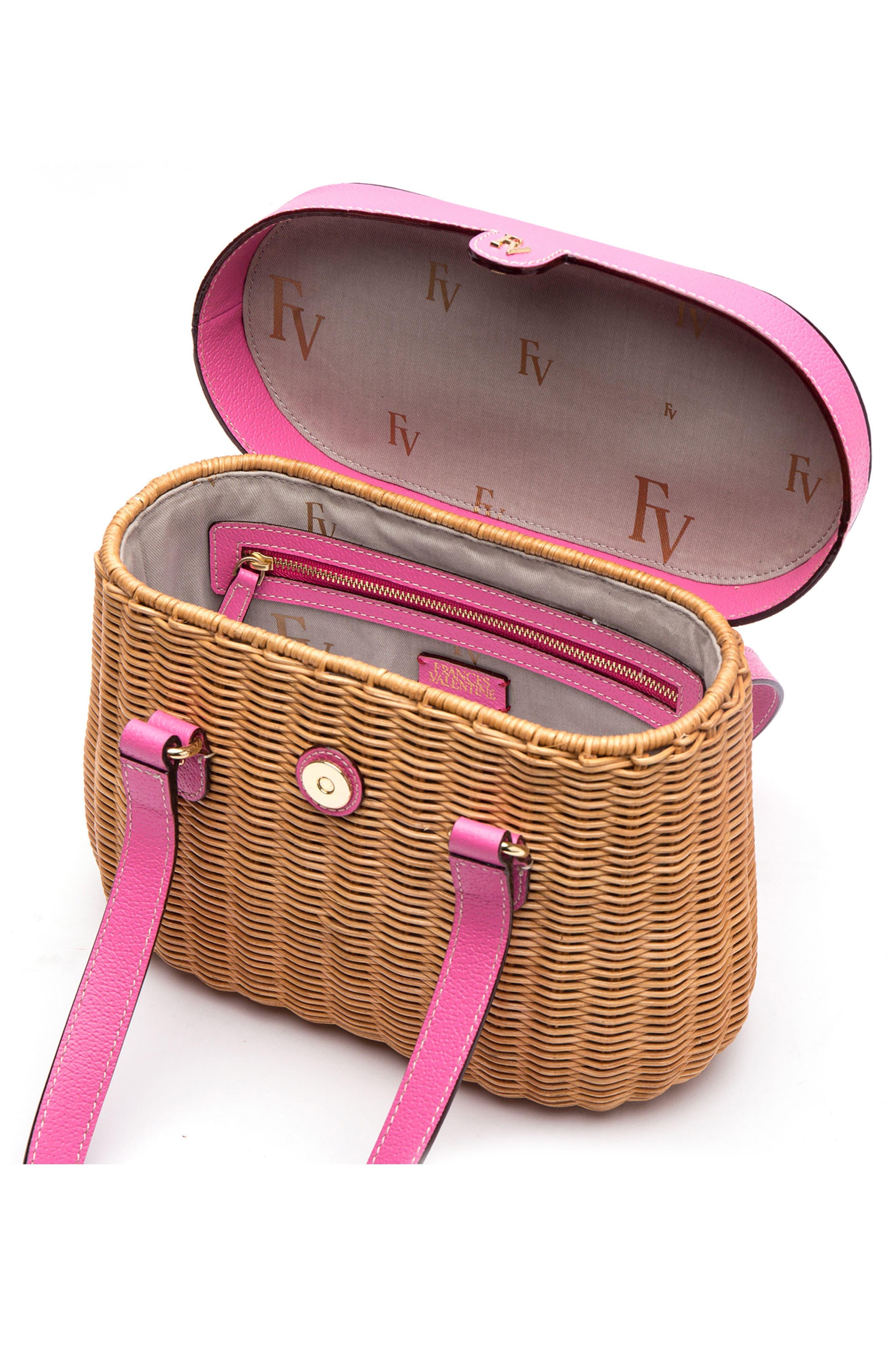 Alternate Image 2  - Frances Valentine Wicker Basket Shoulder Bag