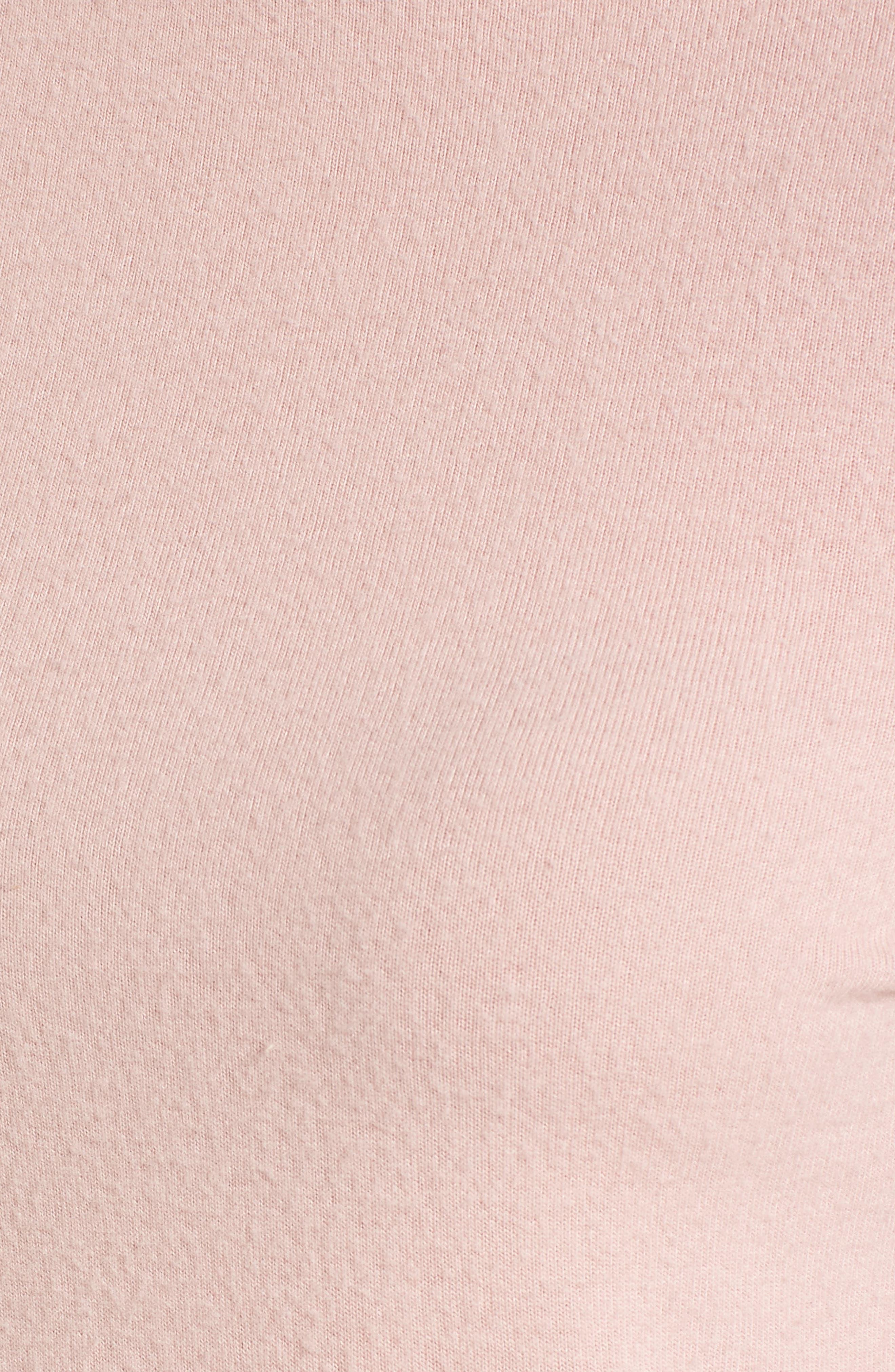 Mock Neck Pullover,                             Alternate thumbnail 5, color,                             Pink Smoke