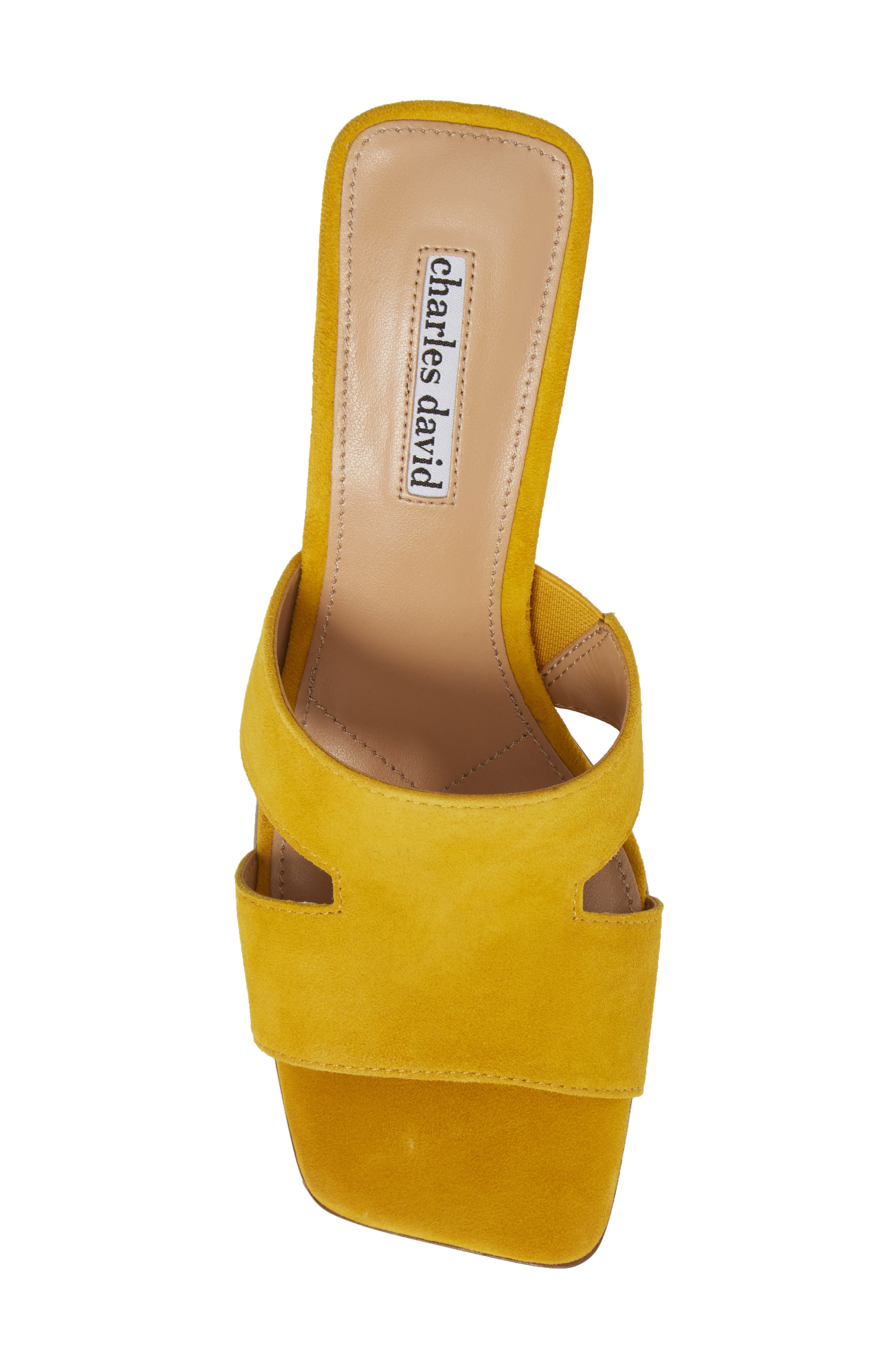 Harley Slide Sandal,                             Alternate thumbnail 5, color,                             Bright Yellow Suede