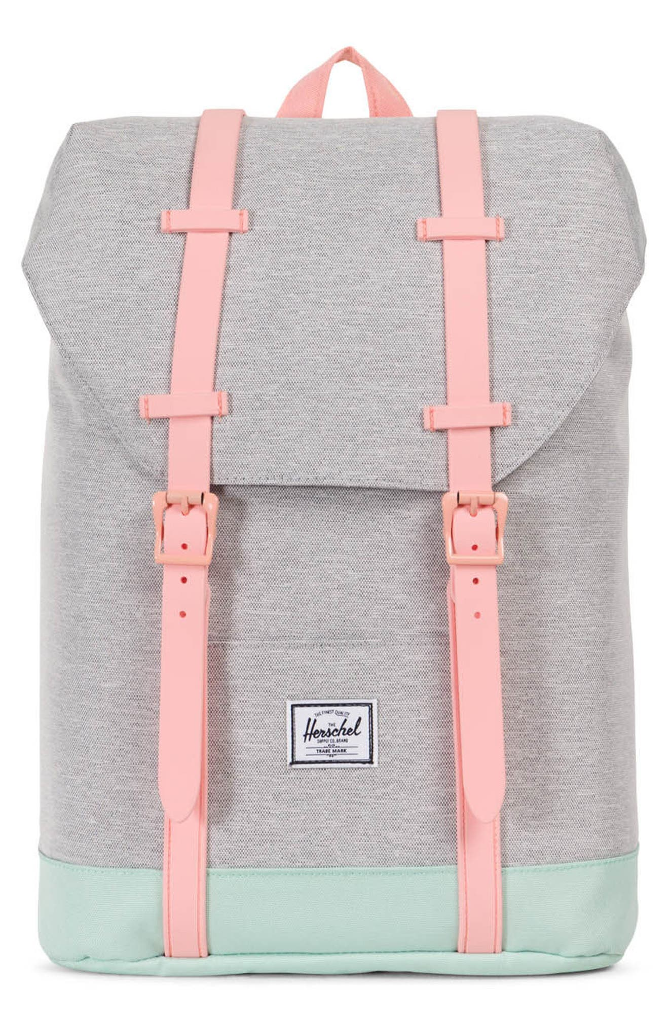 Retreat Backpack,                         Main,                         color, Light Grey/ Yucca/ Peach
