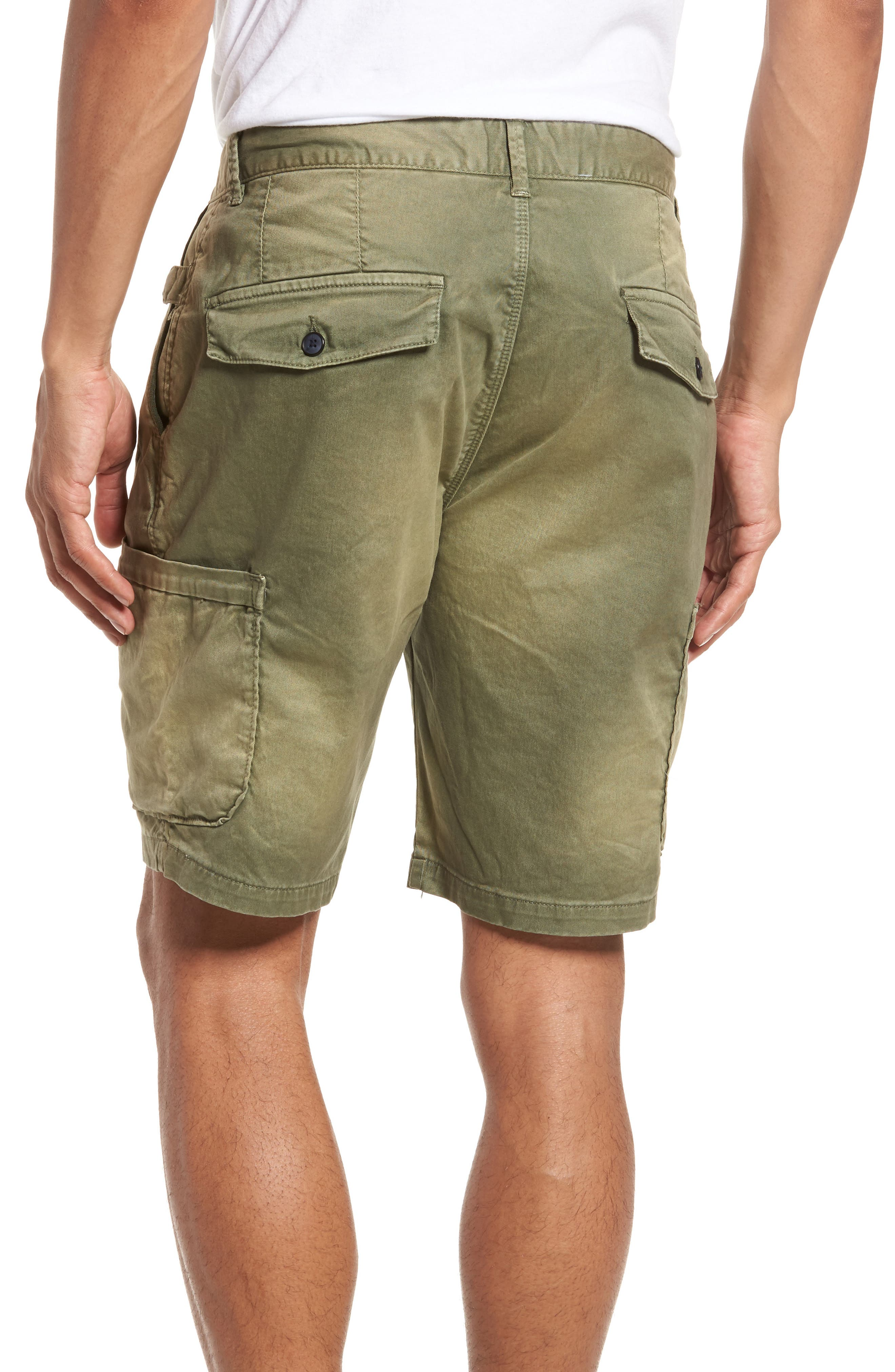Washed Cargo Shorts,                             Alternate thumbnail 2, color,                             Army