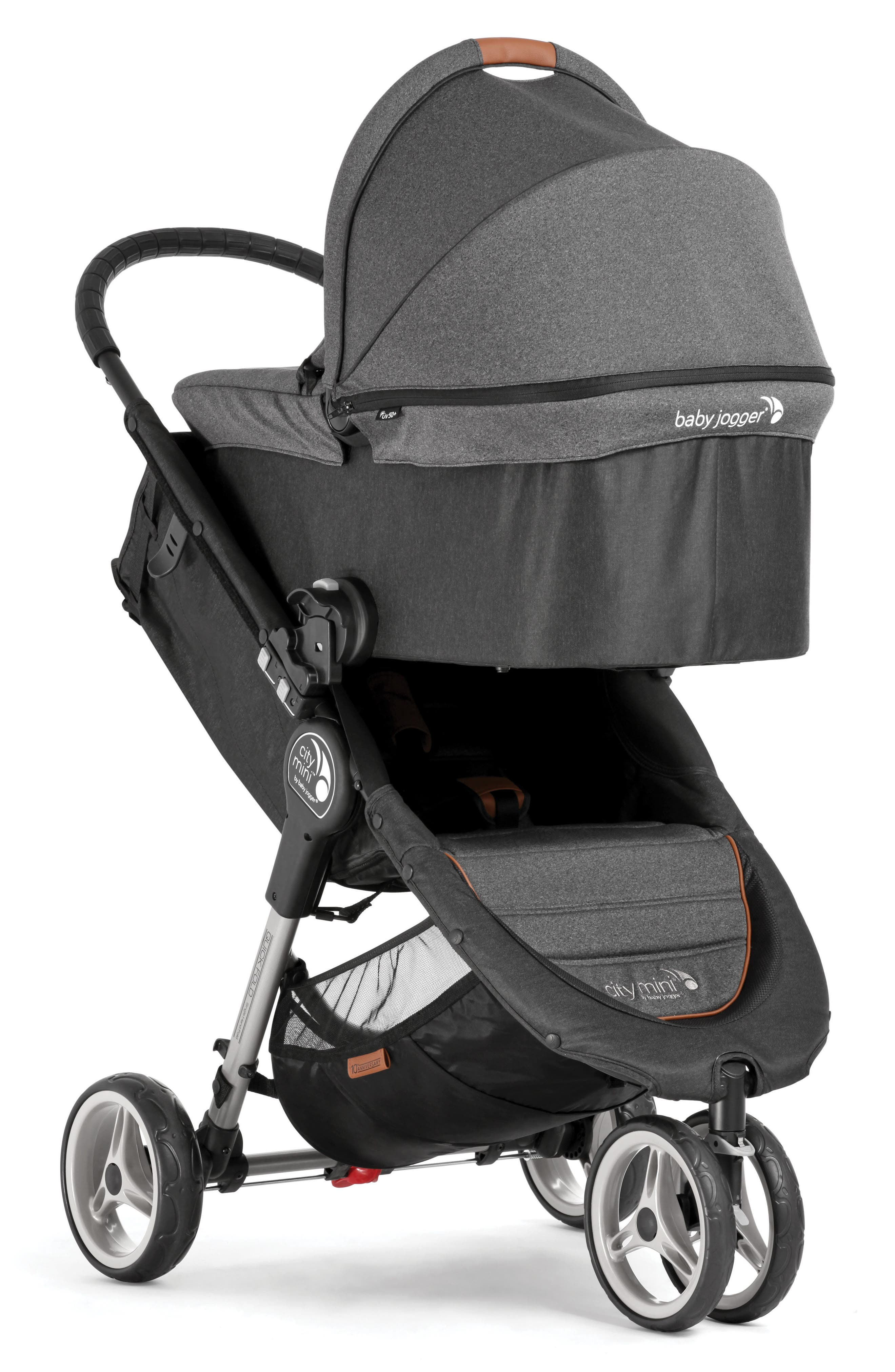 Deluxe Pram Converter Kit for City Mini<sup>®</sup> 2018 Special Edition 10-Year Anniversary All-Terrain Stroller,                             Alternate thumbnail 6, color,                             Grey